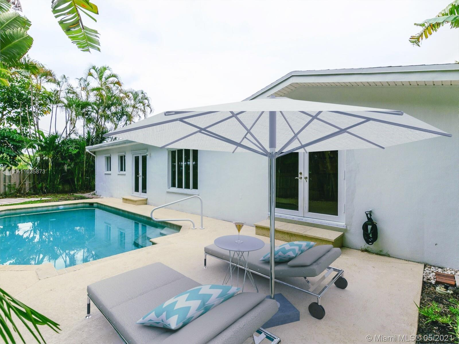 Amazing opportunity to purchase oversized 3/2 pool home located in the prime area of Boca Villas. On