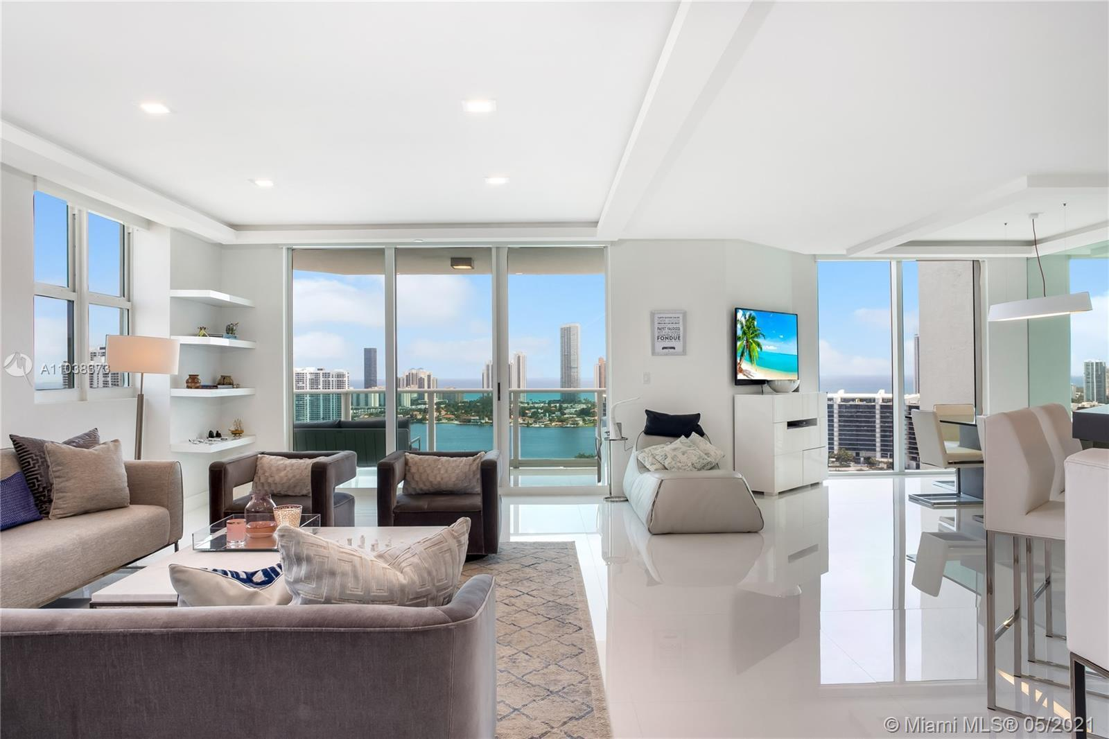 Spectacular high rise corner unit. Panoramic Views of the ocean, intracoastal and city. Three oversi