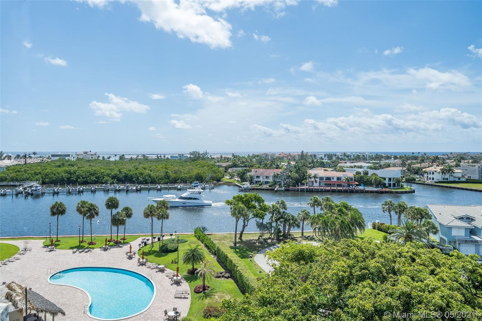 Corner Penthouse Condo with expansive Intracoastal, Ocean, pool, sunrise AND sunset views!  Large ba