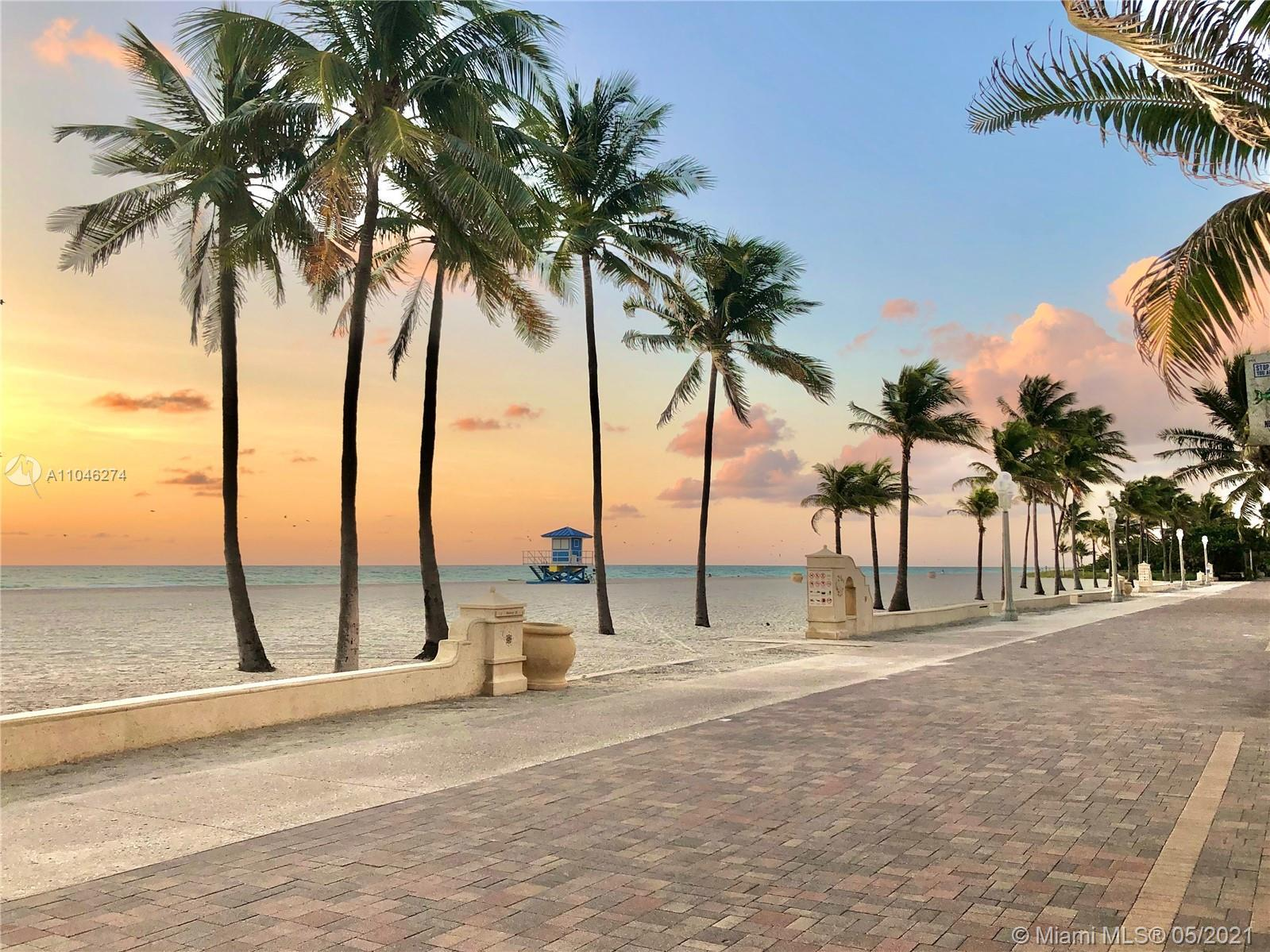 Beach and backyard lovers dream, steps from Hollywood Beach Broadwalk. Rare opportunity to own one o
