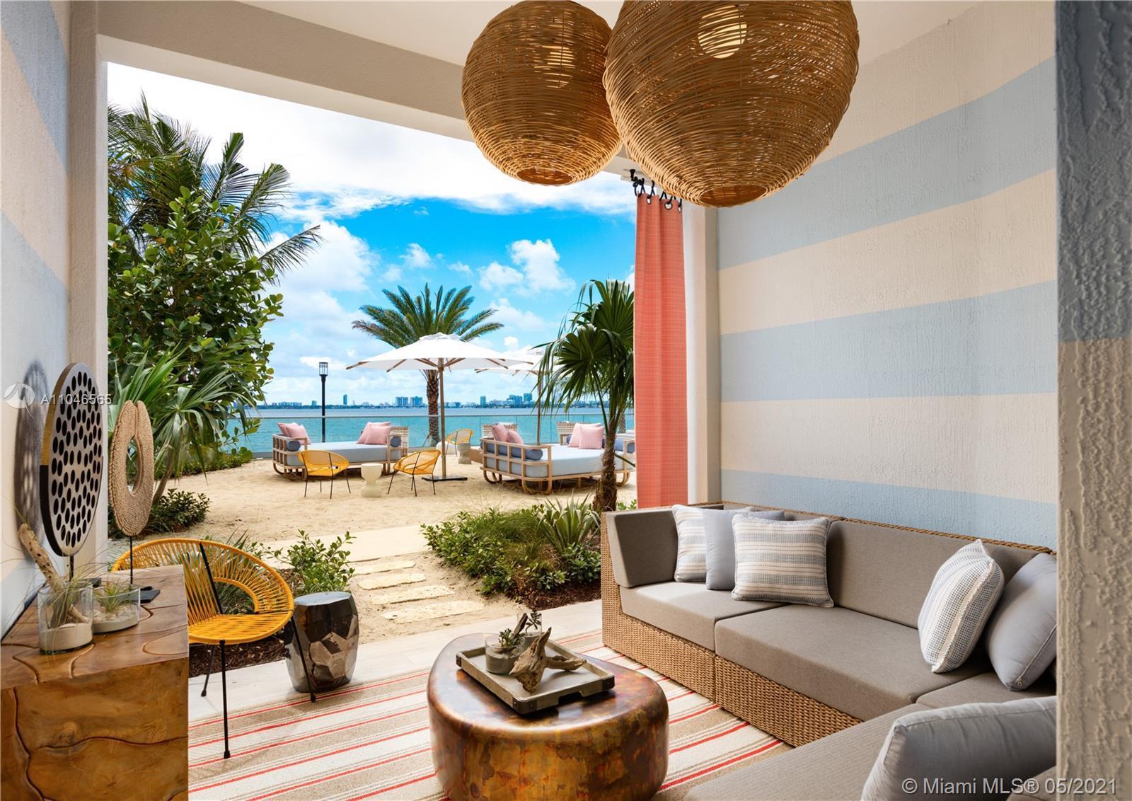 Sensational 2 beds 2 baths at the glamorous Biscayne Beach Condo. Unit has stunning bay views, moder