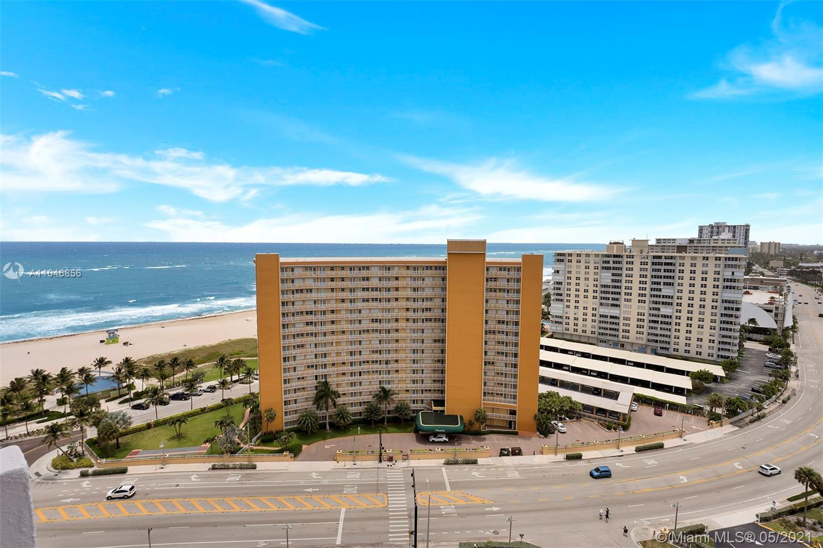 Looking for a view? here you have Oceanview and  Intracoastal from this 1 BR/1.5 BA condo. This unit