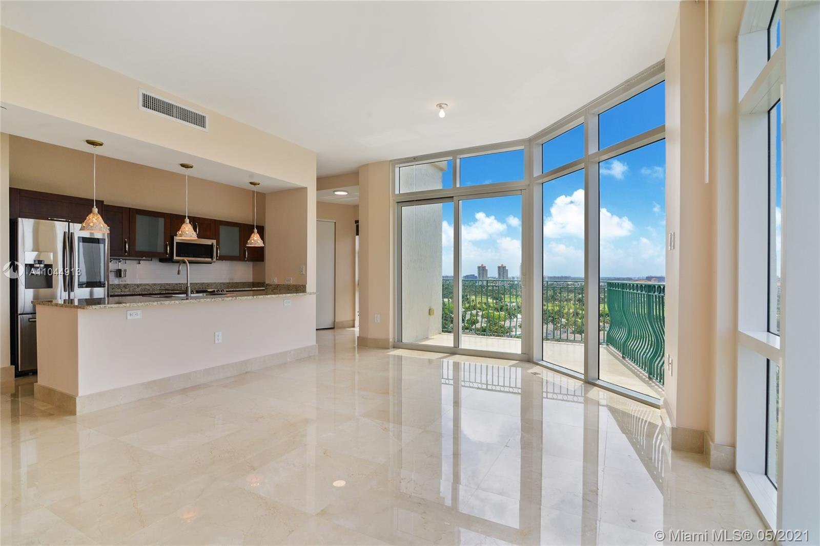 Best Unit In All Of Turnberry Village. Unit has Floor To Ceilings Windows Up To 10 Feet Tall. Marble