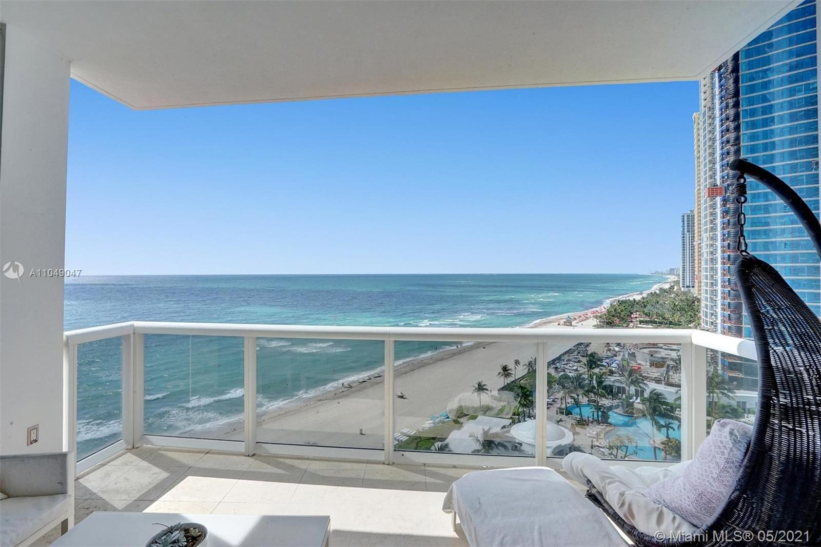 Fully remodeled and upgraded 2 bedroom 2,5 bath beautiful residence in Trump Palace offers ocean, ci