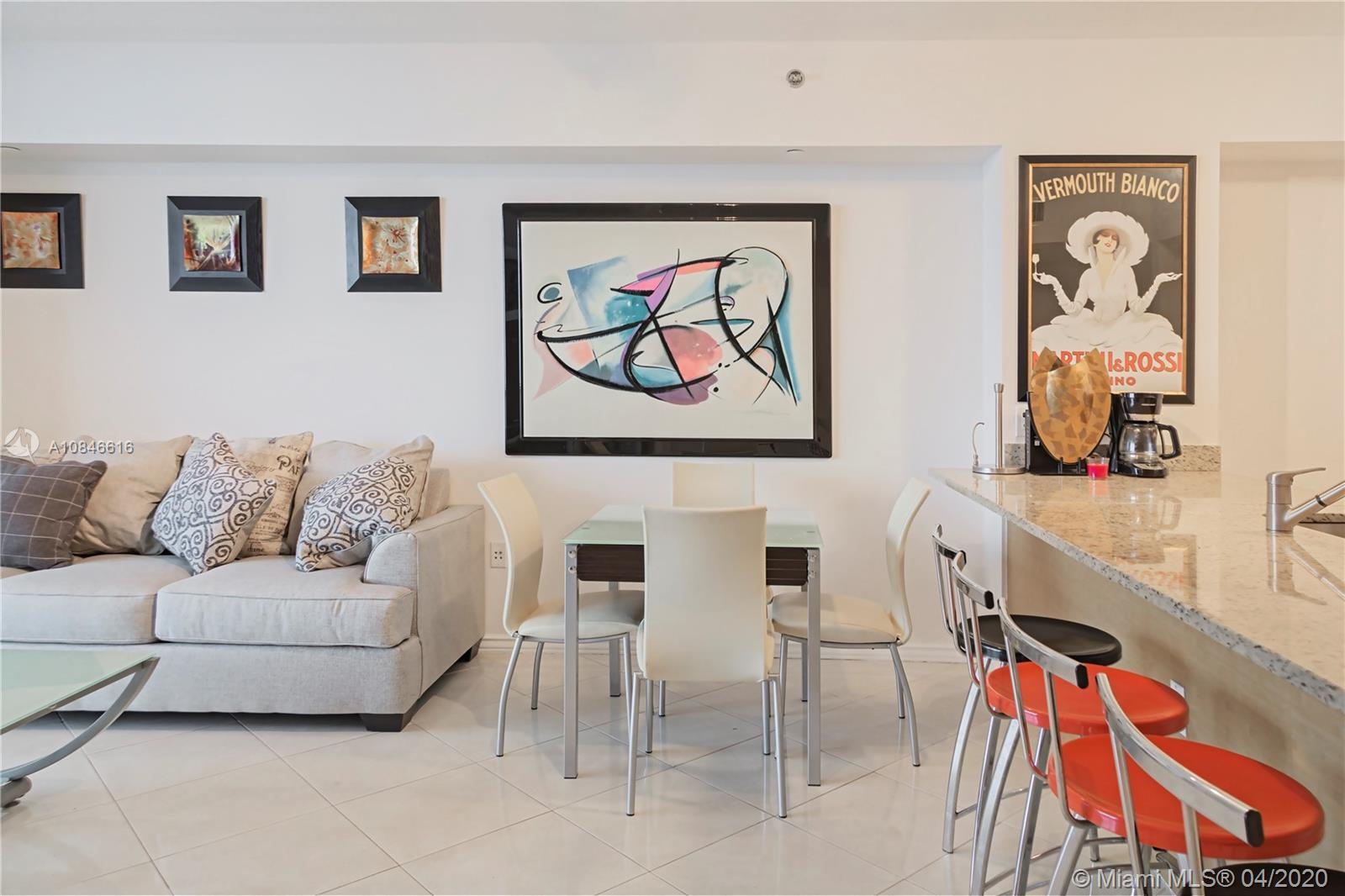 GREAT FOR INVESTORS! Tastefully furnished and renovated 1/1 Model G with spectacular South-Eastern