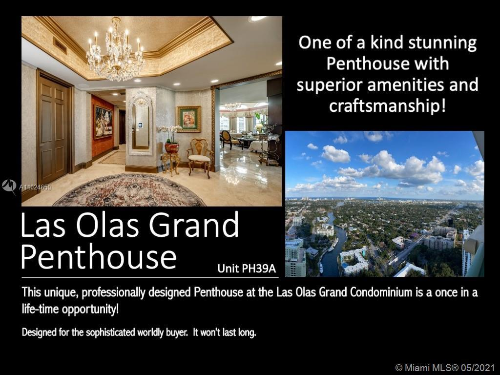 Your jaw will drop as you enter this one-of-a-kind Penthouse in the sky in the heart of Las Olas. Th