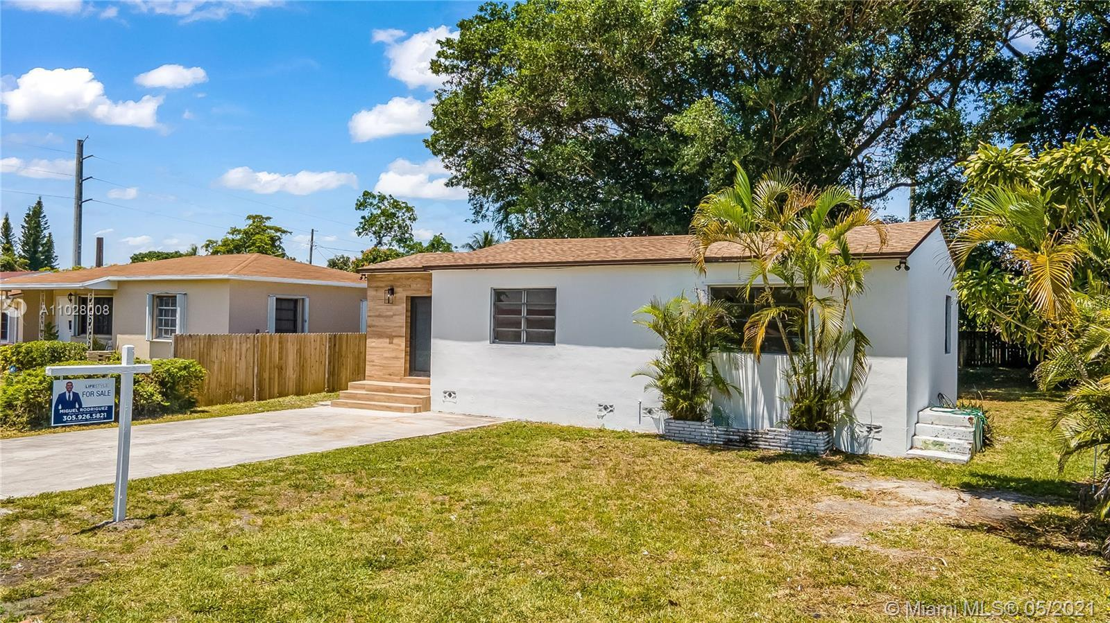 Beautifully remodeled 3 bedroom 2 bath located in Hollywood Highlands with an oversize lot. This 3 B