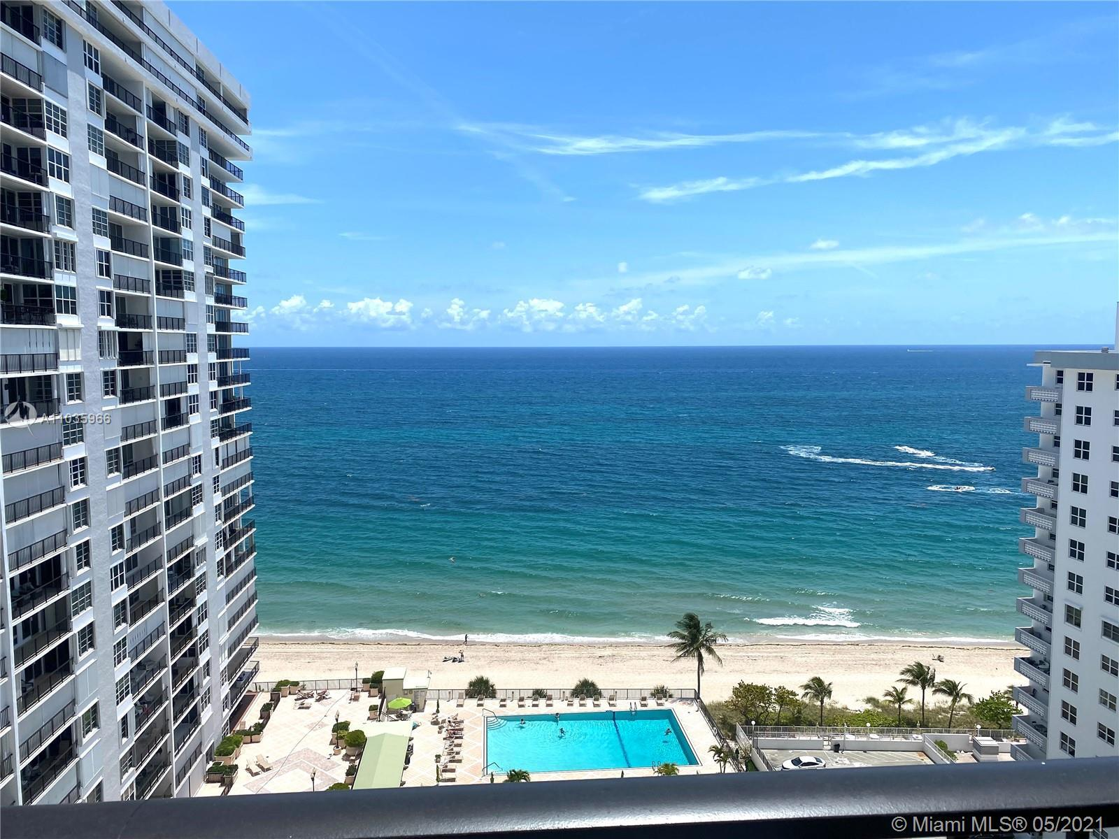 AMAZING DIRECT OCEAN VIEW AND CITY VIEW .... EASY TO SHOW  IN PLAZA SOUTH CONDO !!!  WITH SEMI PRIV