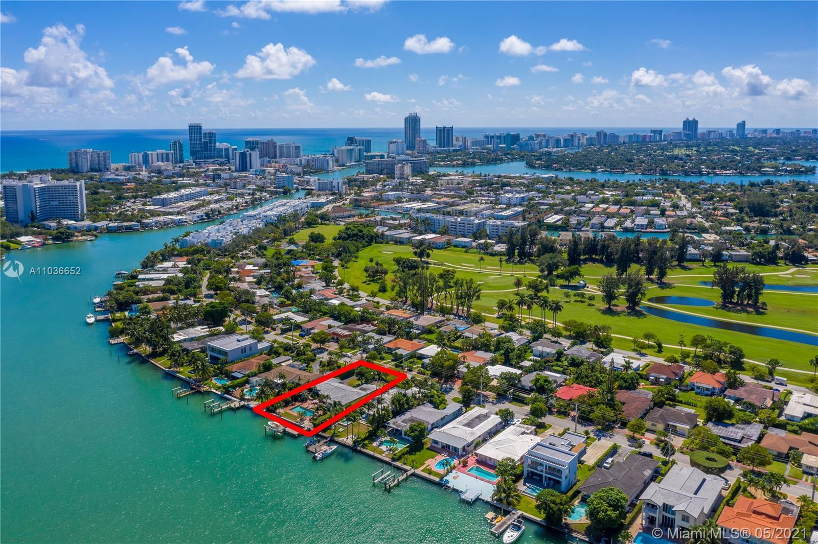 The best waterfront deal in Miami Beach! 15,300 Sq. Ft. Lot, 90 Ft. of Bayfront. Located in guard ga
