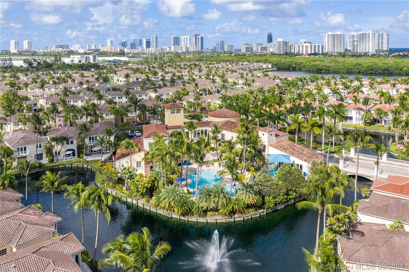Beautifully remodeled & upgraded waterfront home located in the gated community of Aventura Lakes. F