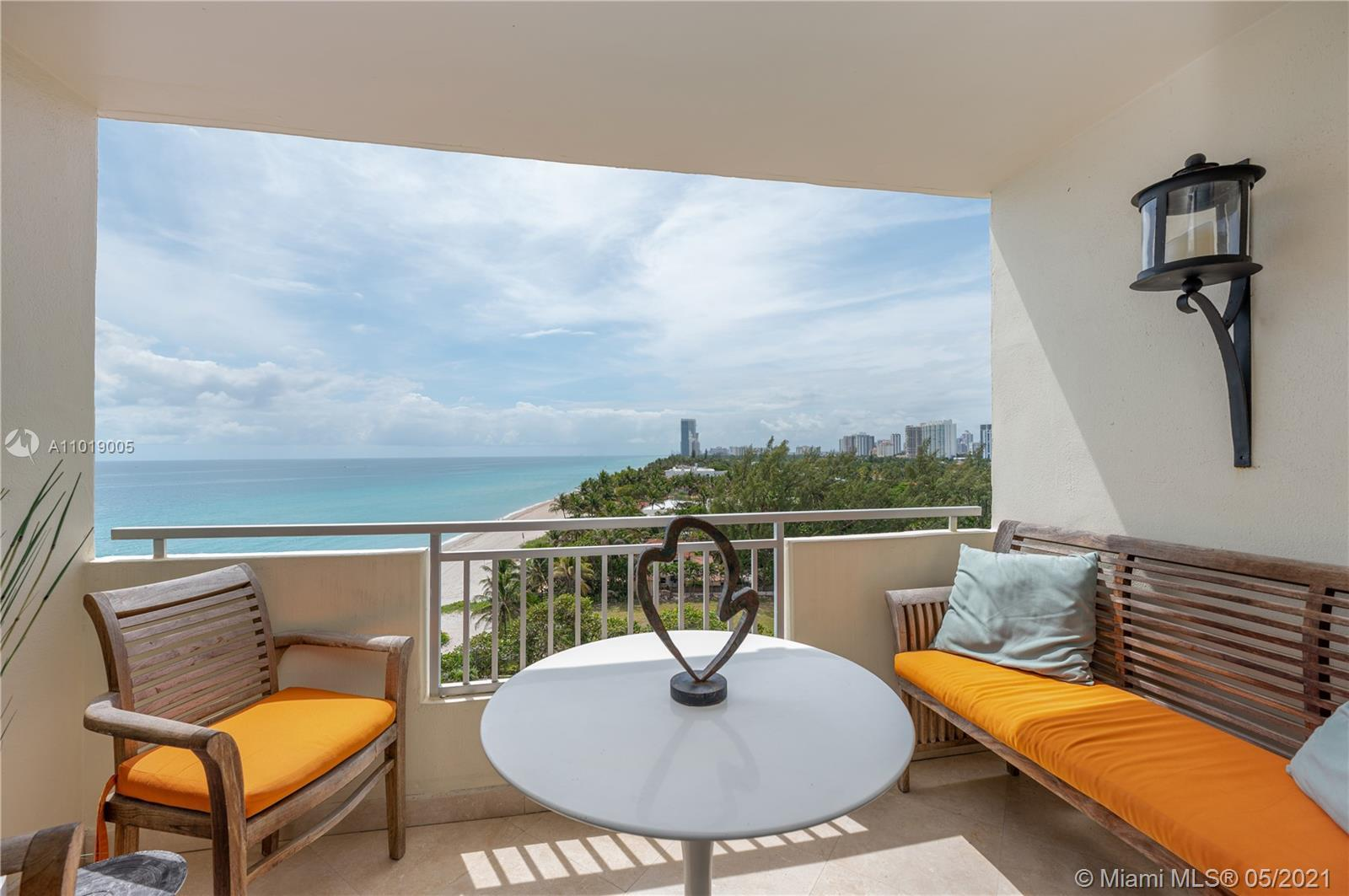 Rare beach front condo with unobstructed views just steps away from the exclusive Golden Beach Estat