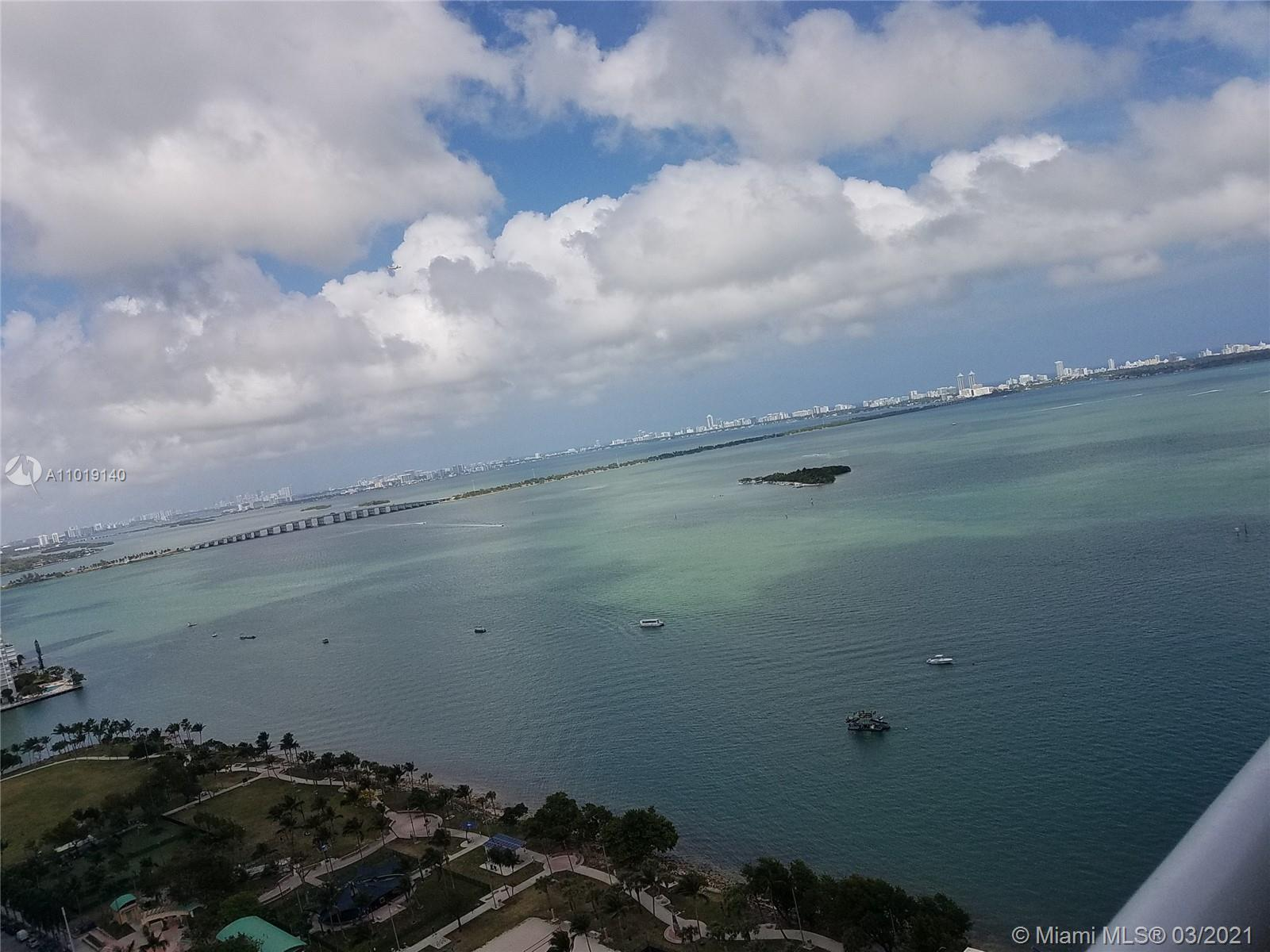 Renovated 2 Bedroom 2 bath with panoramic views of Biscayne Bay.  The condo has newly installed High