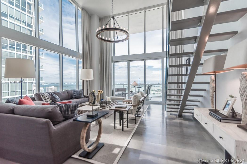 """This high floor """"04""""line with 2Bd/2.5Ba and 1,730 S.F. has some of the most amazing views of the Atl"""