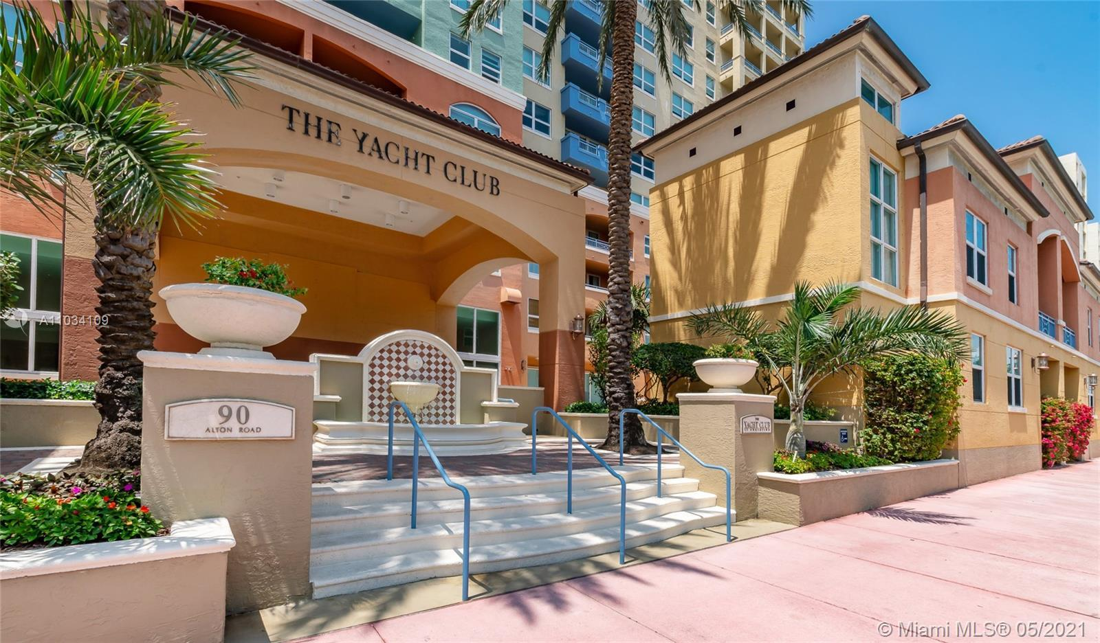 Aired & light filled, 1,130 SQFT, 2 bedroom & 2 bath corner unit at The Yacht At  Portofino Condo in
