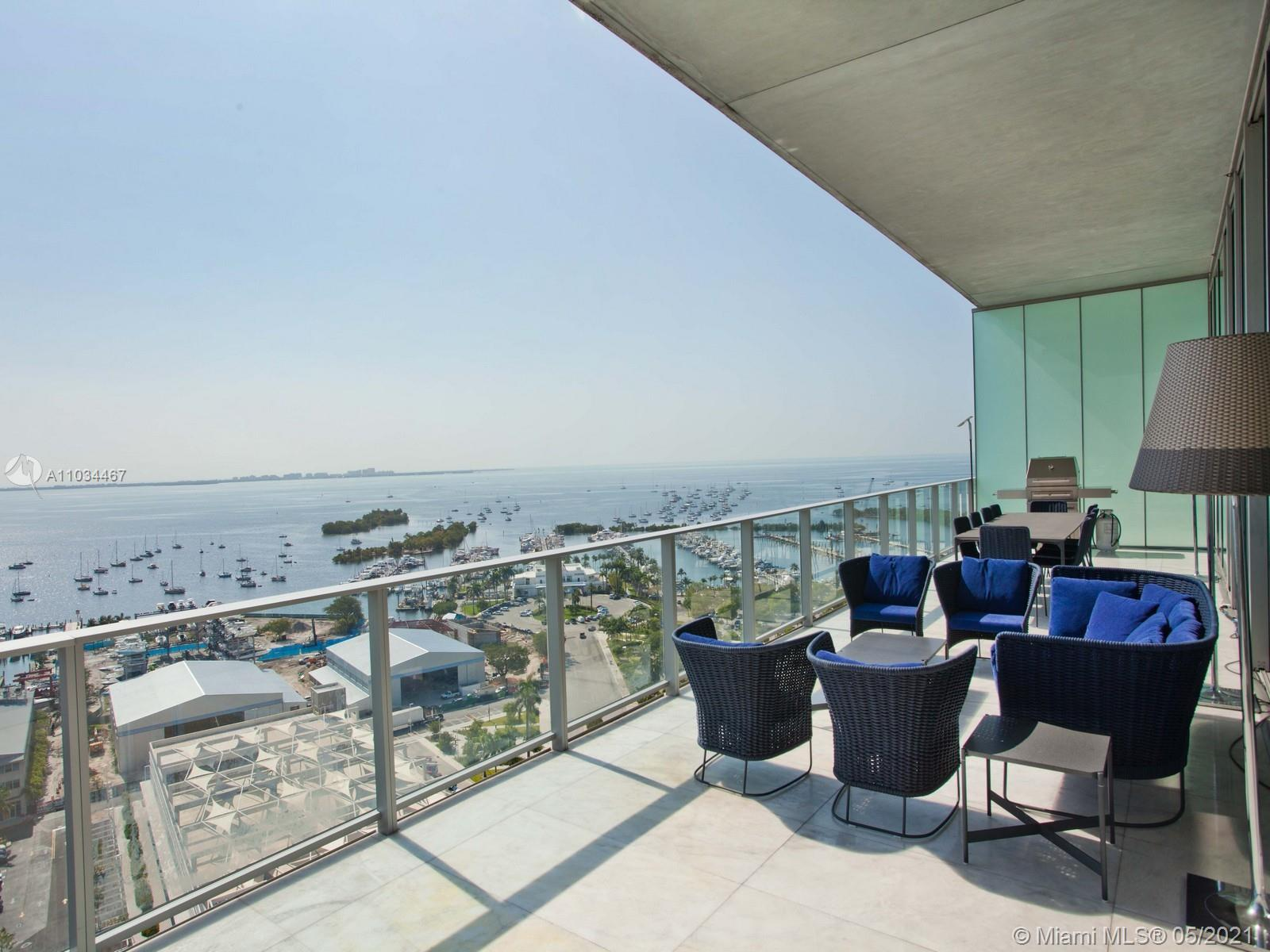 Spectacular Modern luxury condo at the Grove at Grand Bay South Tower in Historic Coconut Grove.  An
