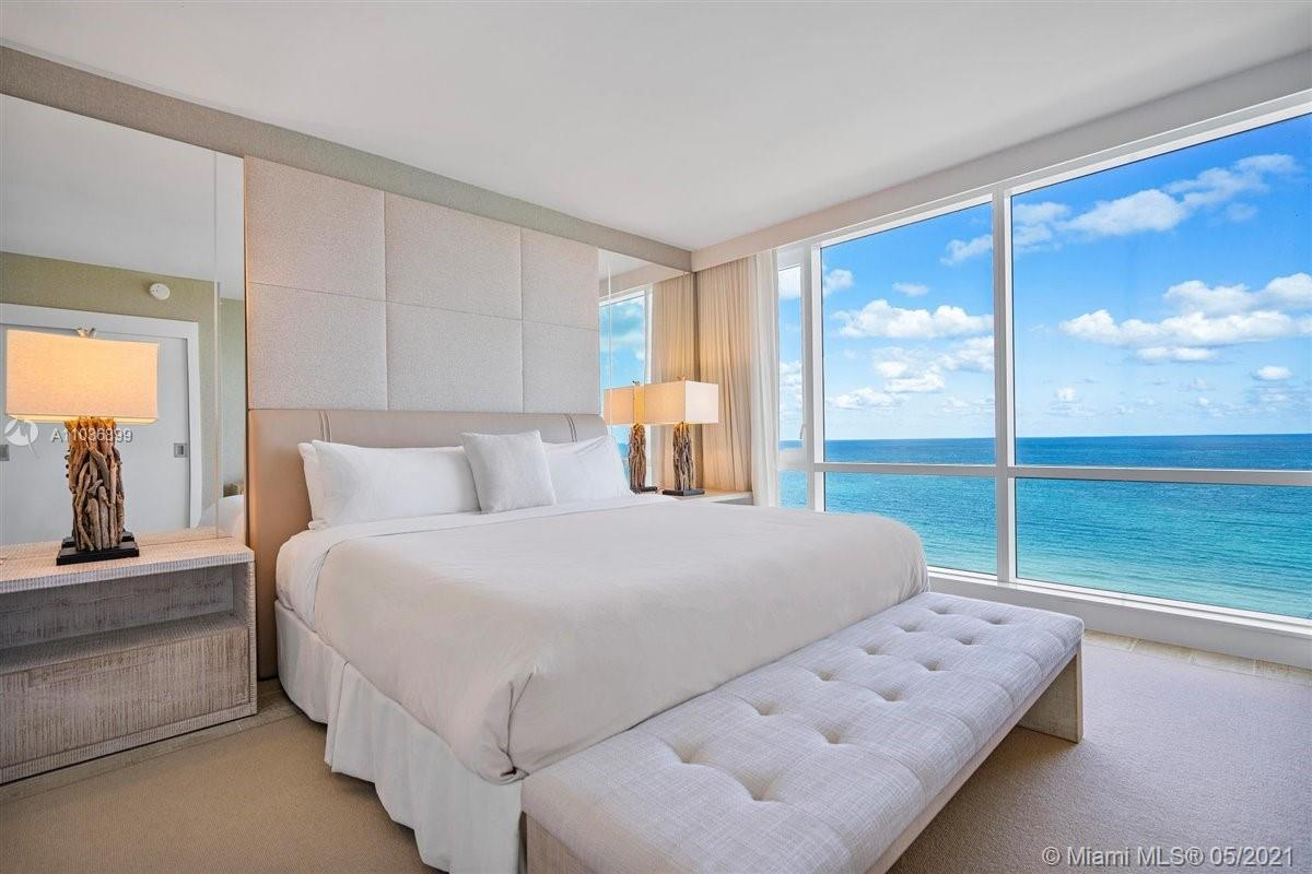 Enjoy breathtaking views of Miami Beach from your own private, fully furnished double balcony. Nothi