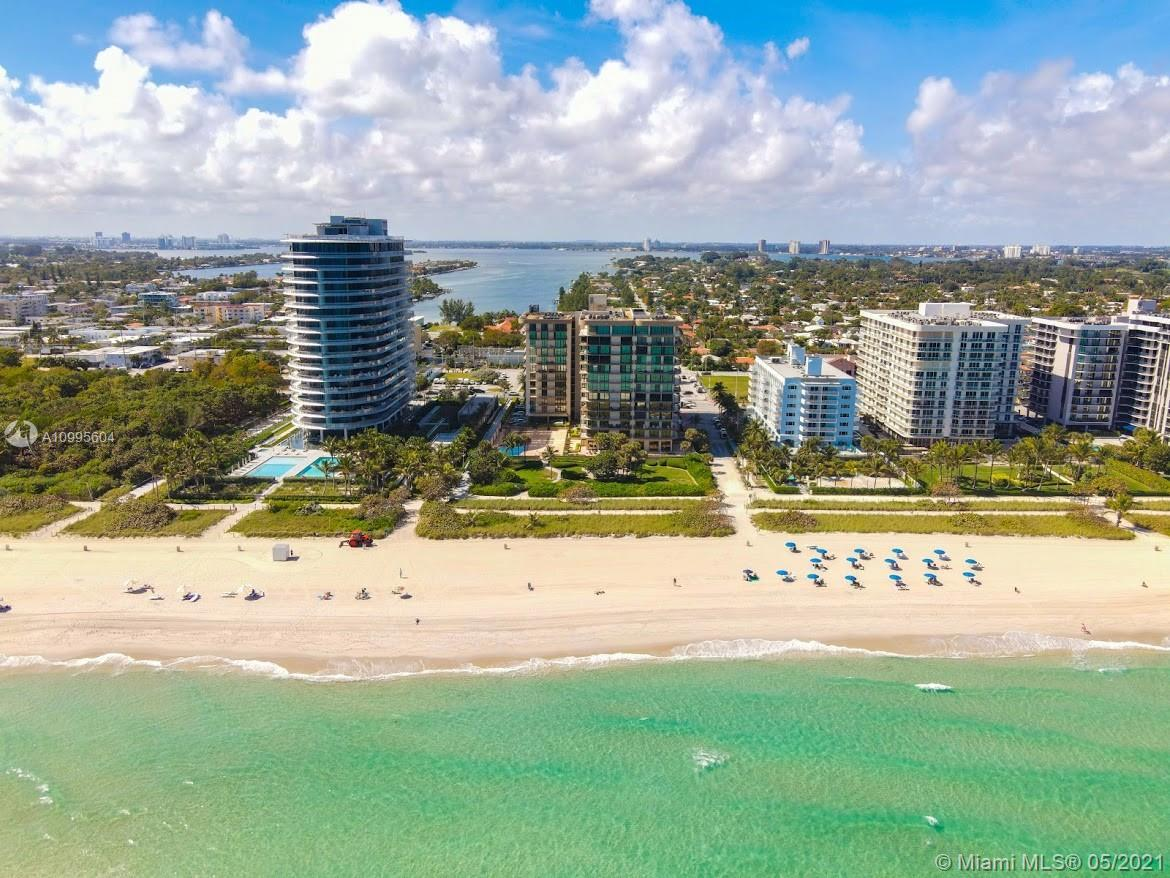 Oceanfront living in Surfside blocks from Bal Harbour Shops. Spacious one-bedroom unit with an open