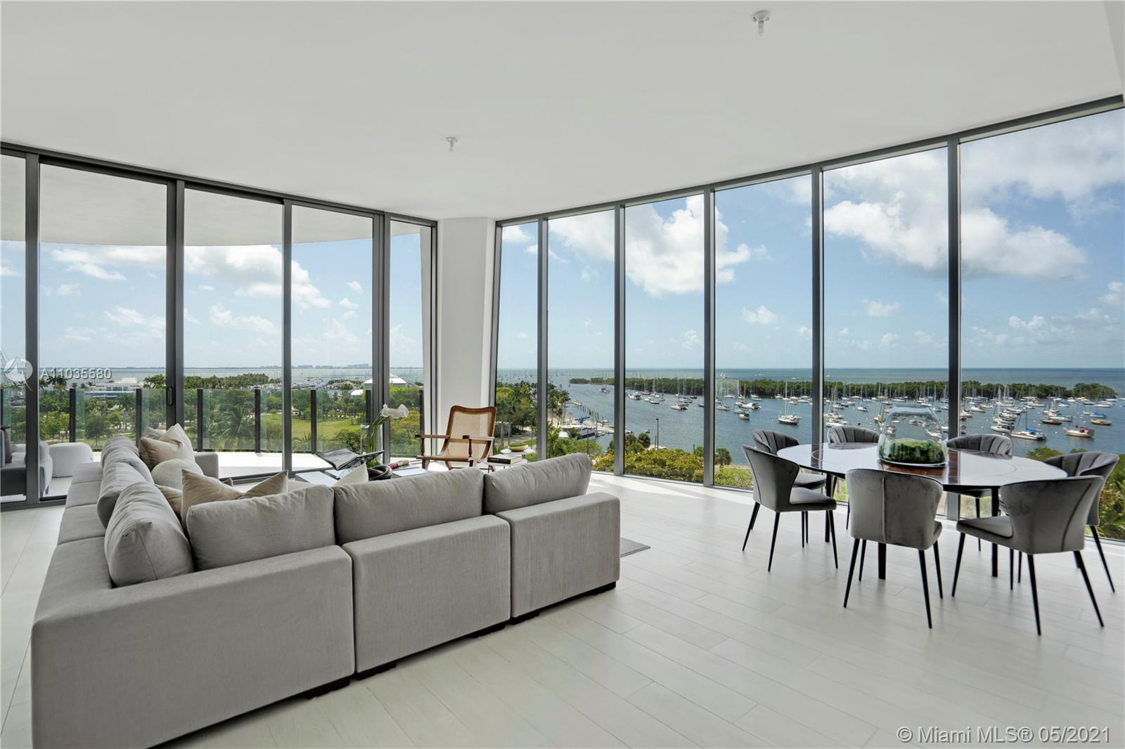 Stunning 4 Bedroom & den residence in the luxurious One Park Grove in Coconut Grove. This unit offer