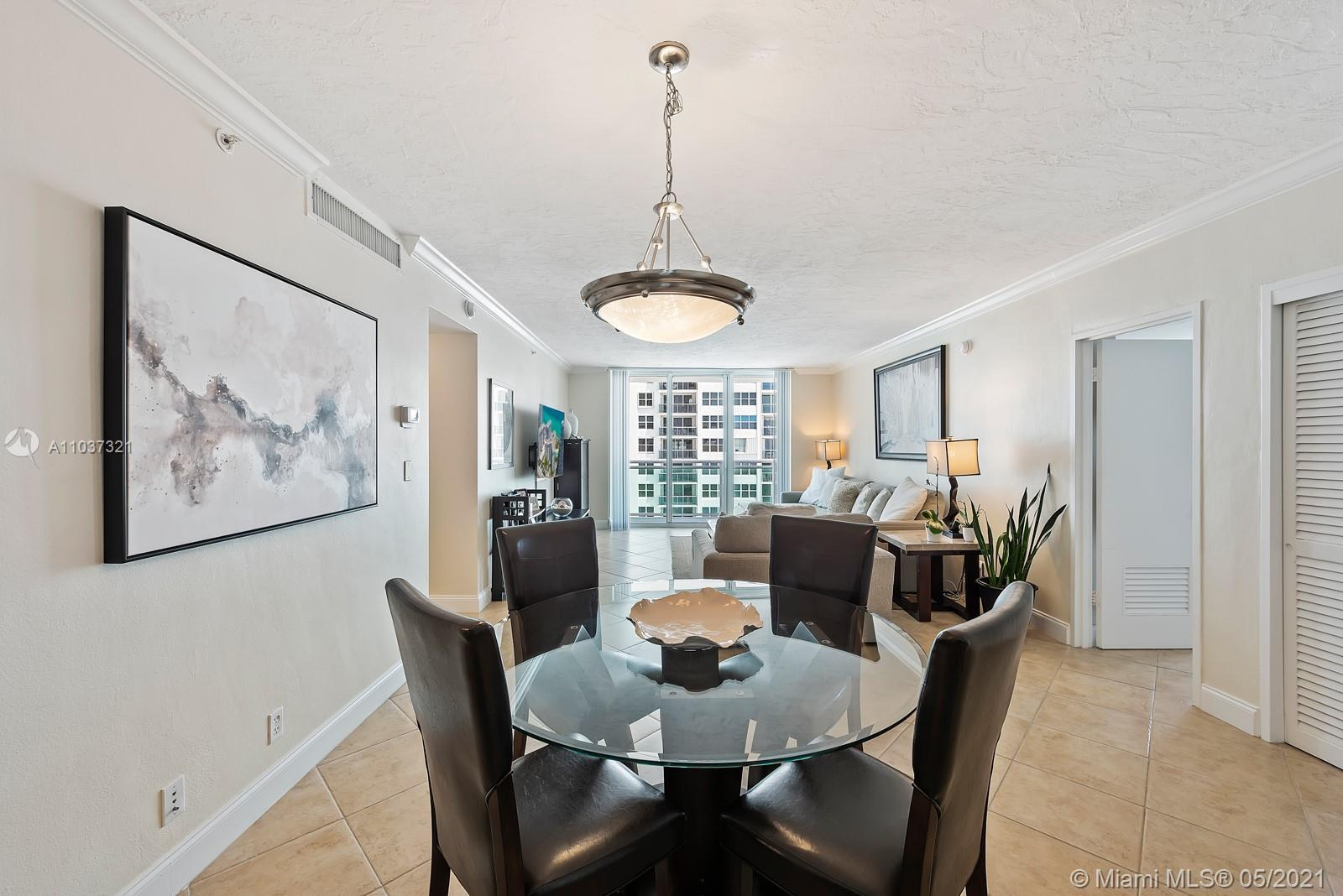 Beachfront living at the Residences at Hollywood Beach! Corner residence #709 features 2 beds, 2 ful