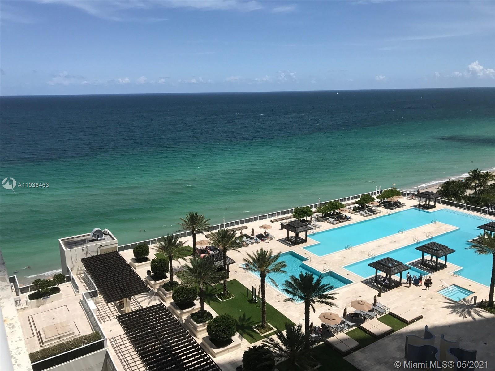 Remarkable ocean, city and pool views from this stunning  2 Bedrooms 2 Baths corner unit with South-