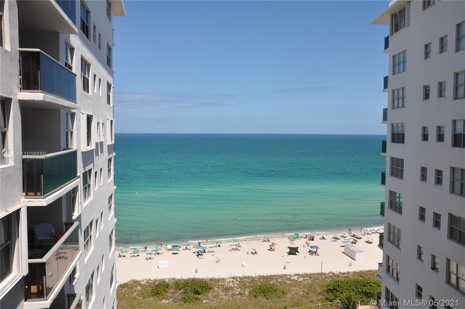 Stunning oceanfront views from this 1bed 1-1/2 bath condo in Miami Beach. You will fall in love with