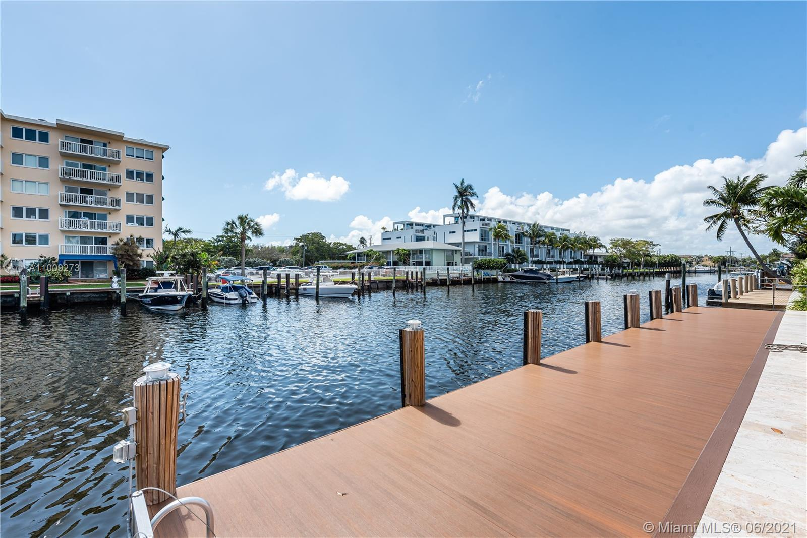 Tenant in place paying $6,700 per month until April 2022. Pompano Beach gem is the perfect dream hom