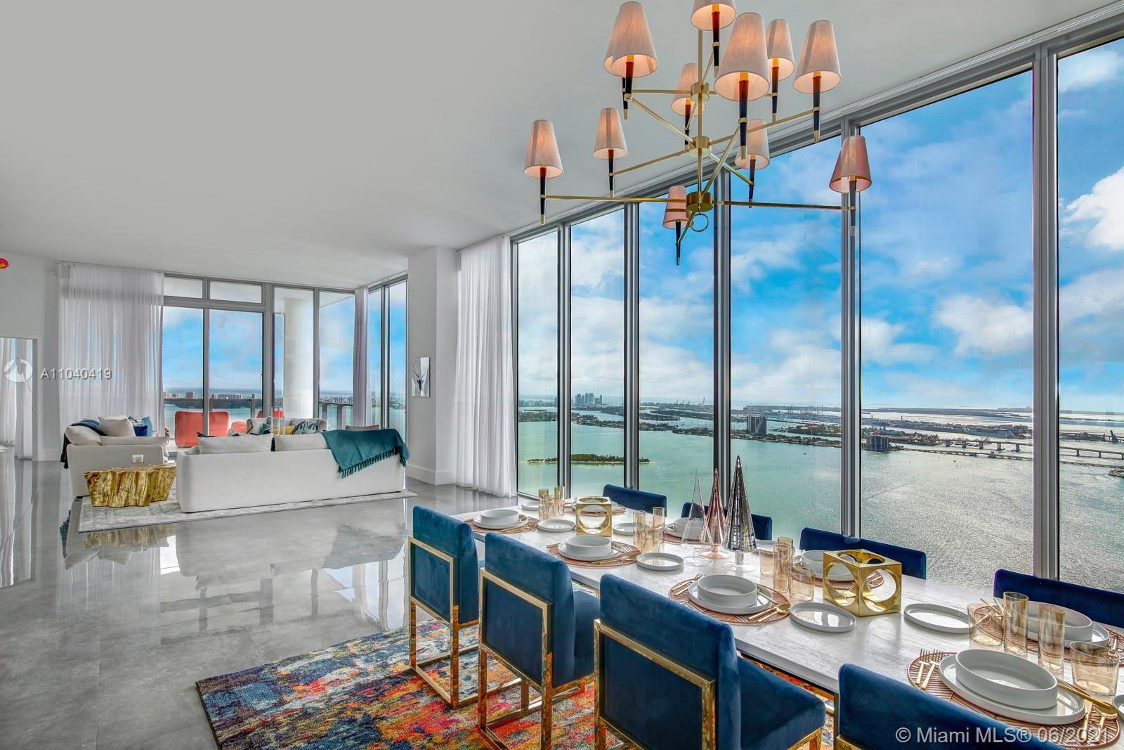 The best view in the city! Stunning Penthouse in Biscayne beach. The Penthouse faces East, South and