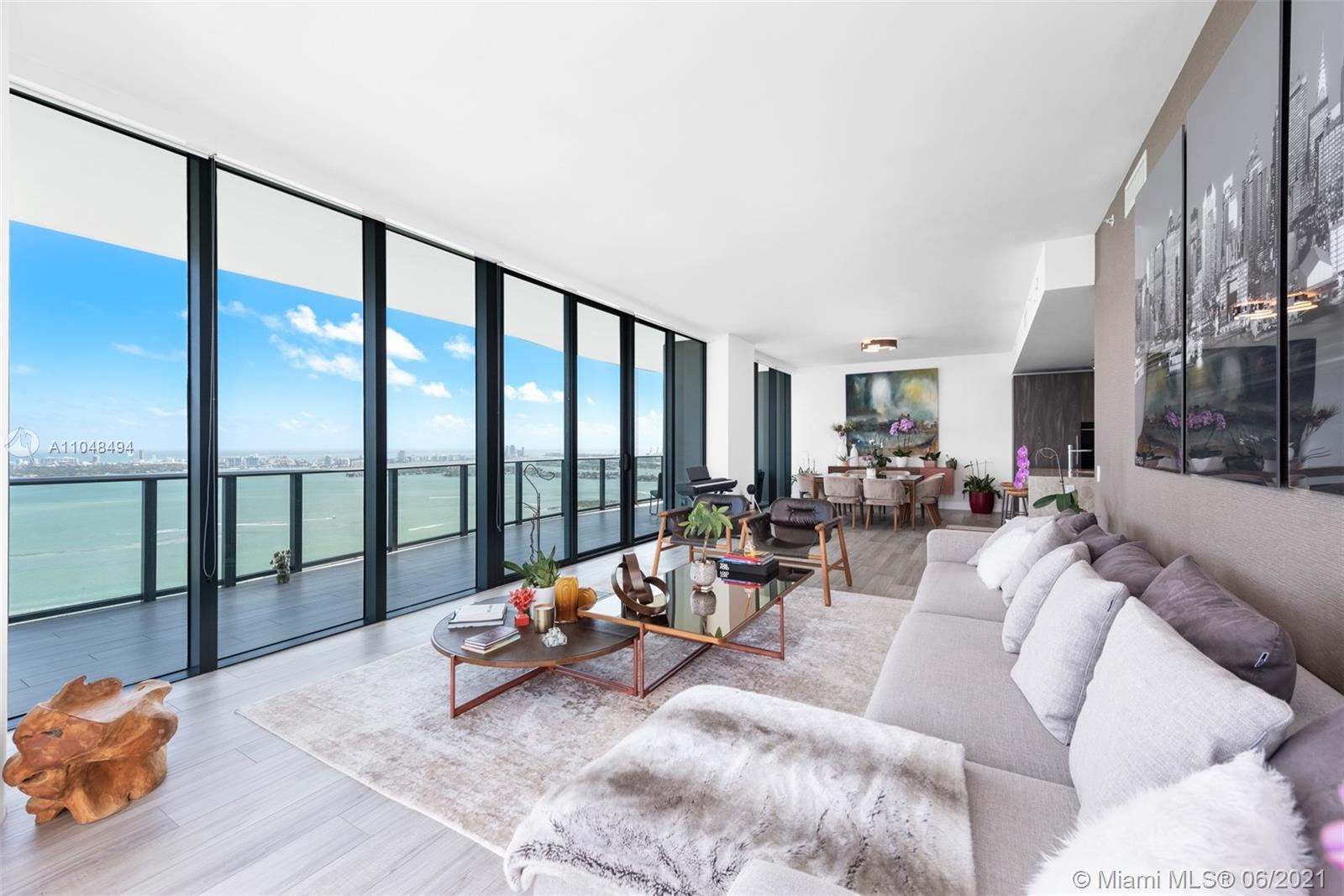 51st Floor sky Penthouse at ONE Paraiso with breathtaking direct views of Miami Beach, Key Biscayne