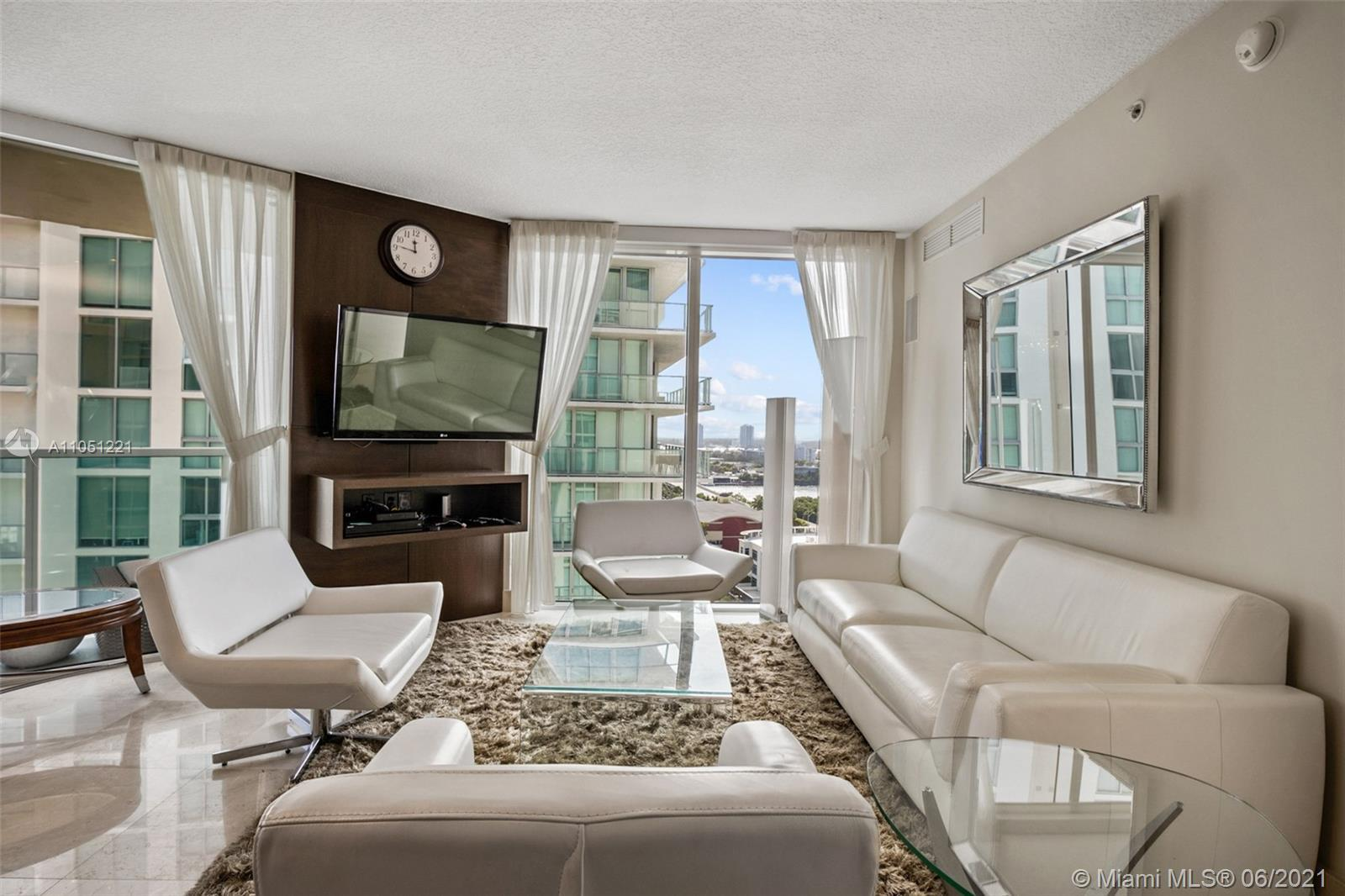 Spectacular 3/2 unit at St Tropez in Sunny Isles Beach. This condo features marble flooring, open ki