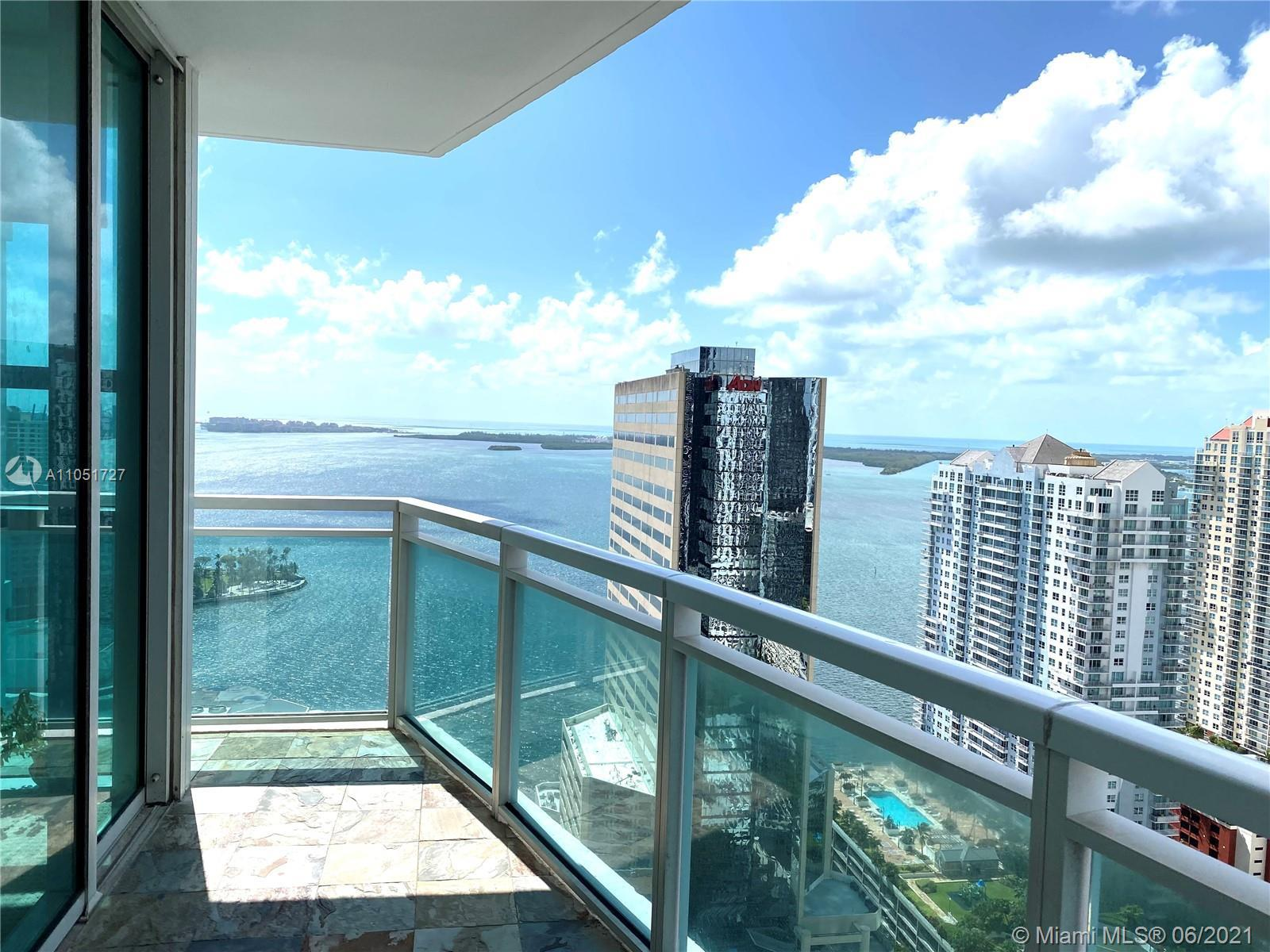 Welcome to the most spacious 2bed/2.5bath corner unit with fantastic water & panoramic views of Bric