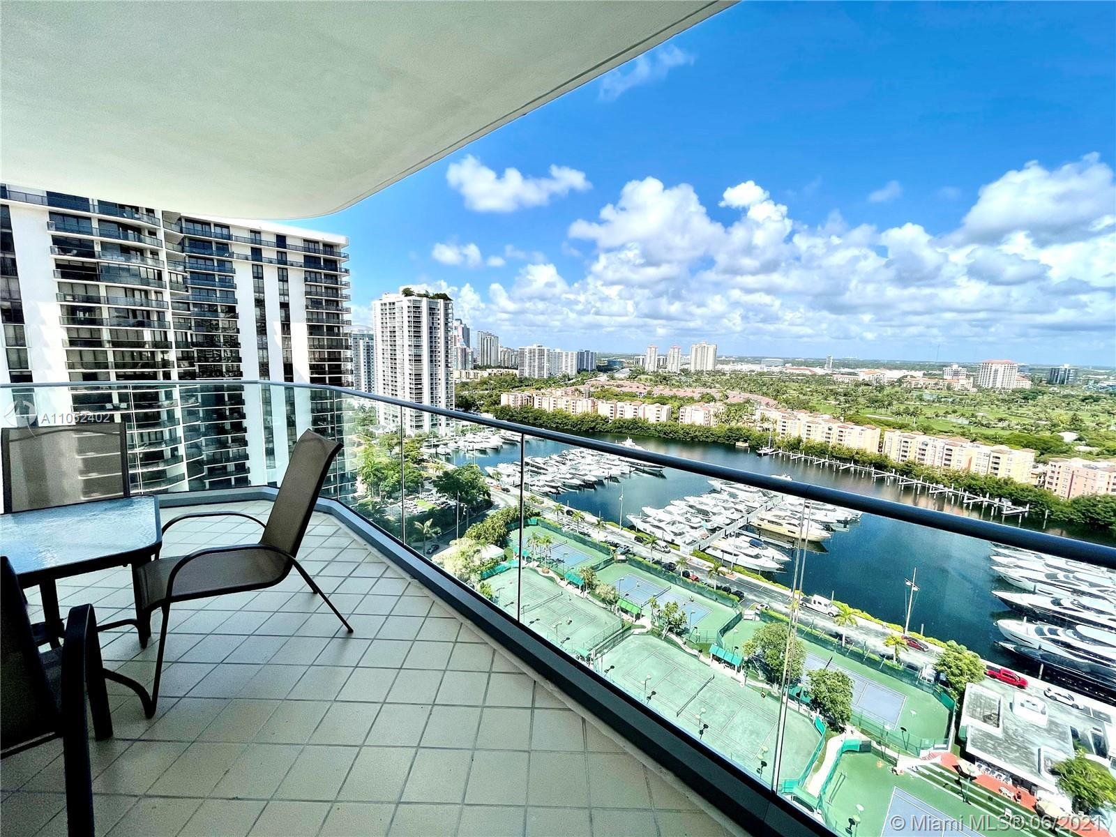 Large 3 Bd. 2 Bth. in luxurious Turnberry Isle North Tower completely furnished. Master closet turne