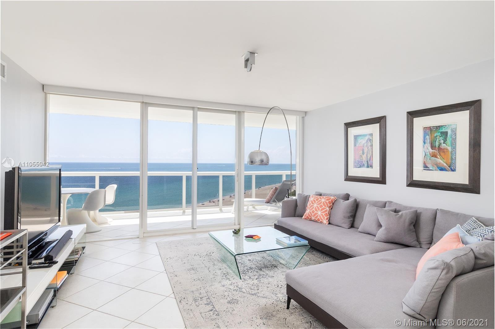 Amazing ocean view  unit with oversized balcony located in the prestigious La Gorce Palace.  This 2