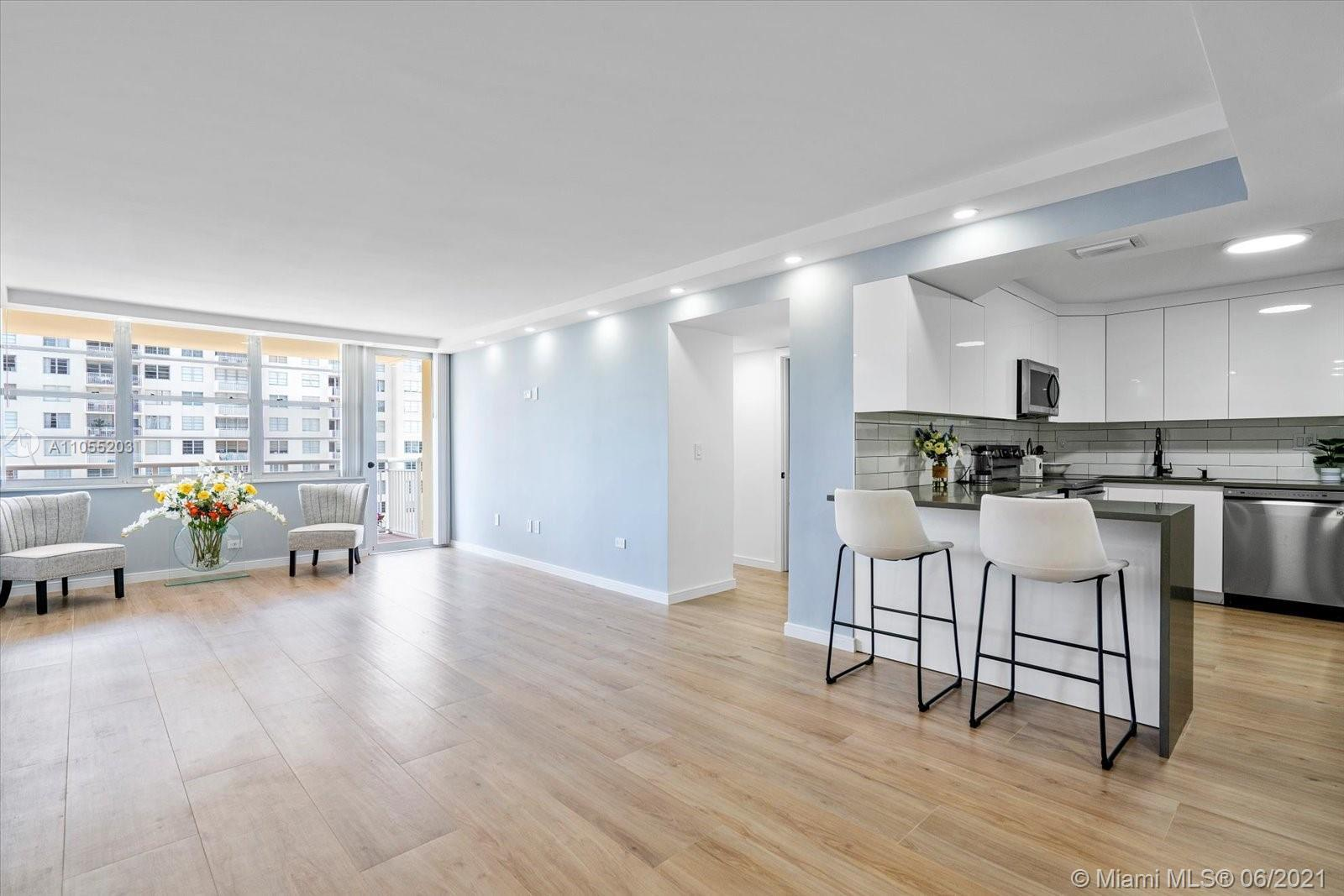 Stunning two bedroom two bathroom fully remodeled apartment located in the heart of Sunny Isles. Apa