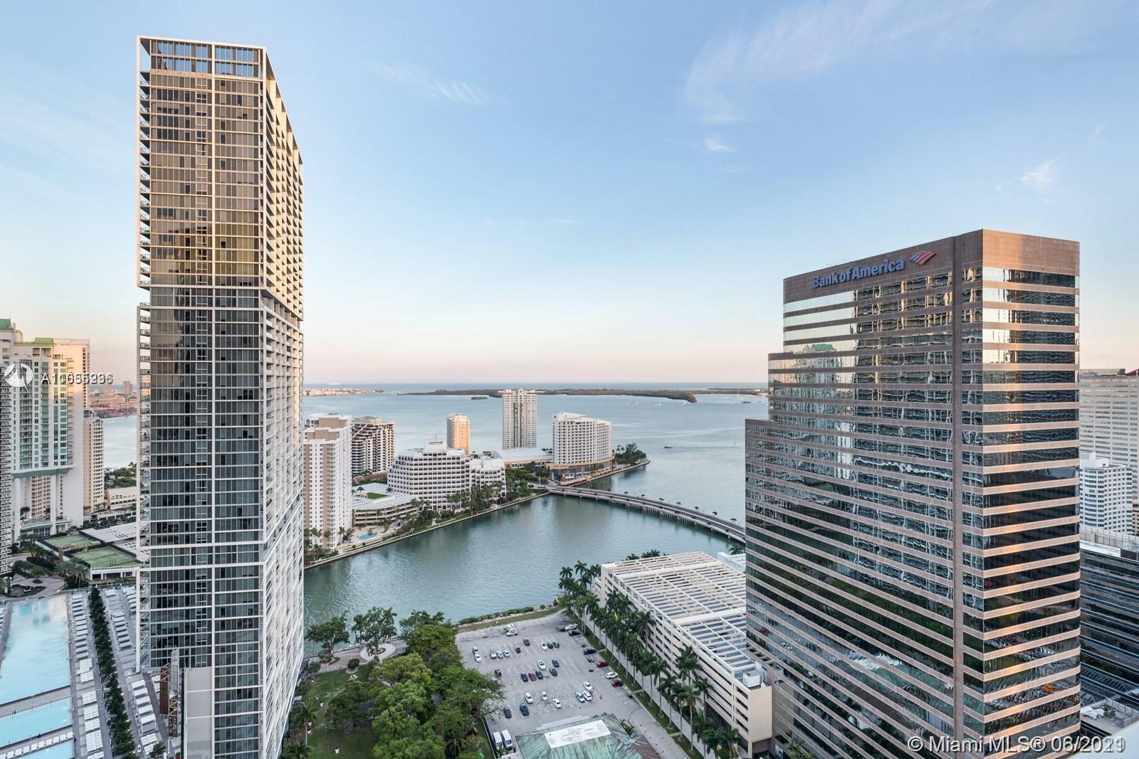 Elegantly appointed 3 bedroom 3 bath apartment available for sale at 500 Brickell in the heart of th