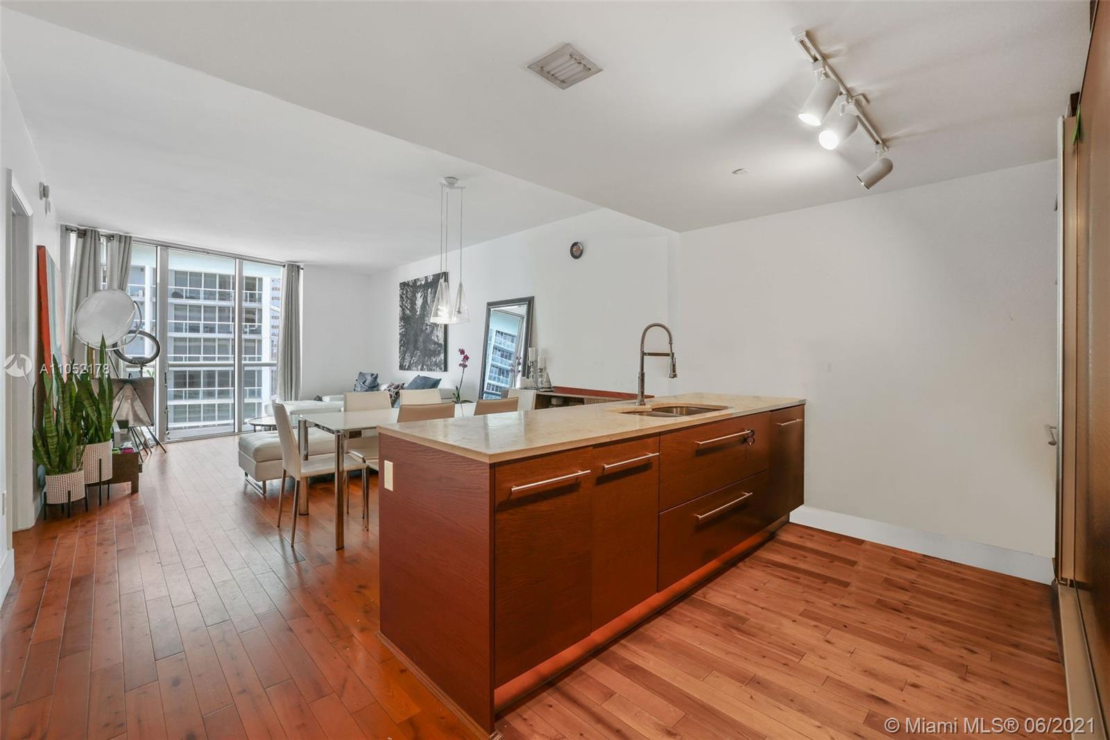 Large 1 Bedroom Floor Plan in Icon Tower 1 with gorgeous wood floors throughout. Enjoy stunning bay