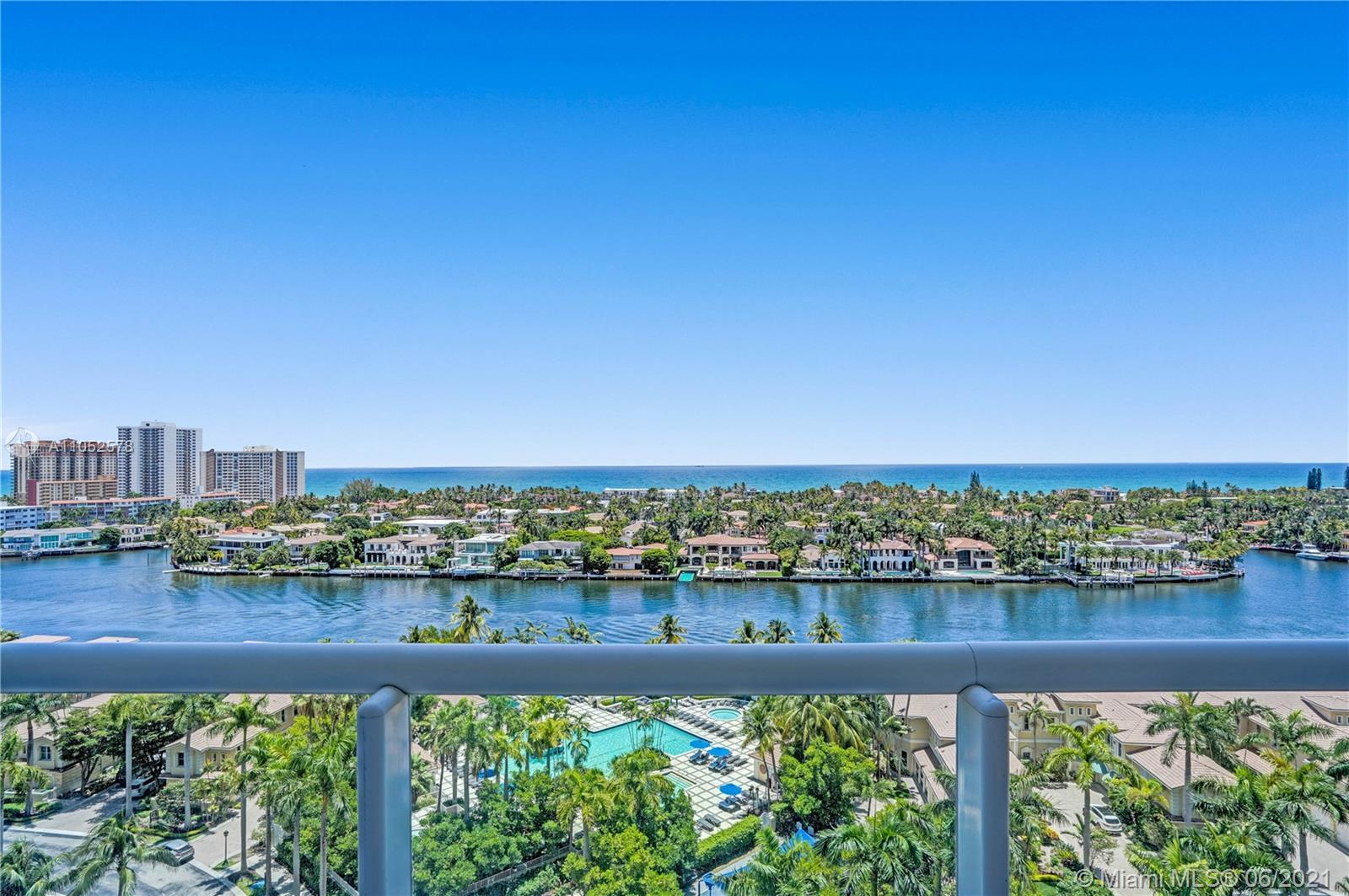 Bright & spacious 3 bed + den flow-through apartment. Spectacular ocean, intracoastal and pool views