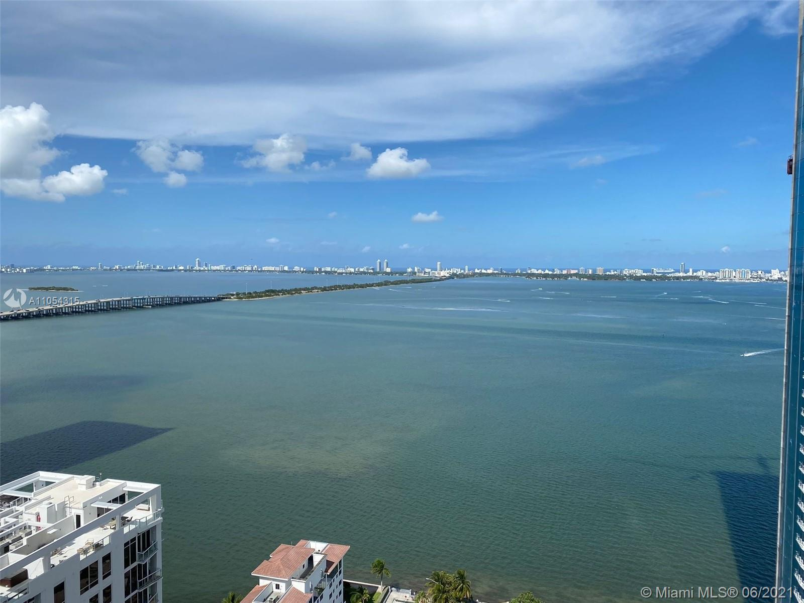 Spectacular view from Biscayne Bay from the 32nd floor! Amazing floor plan featuring east and west v