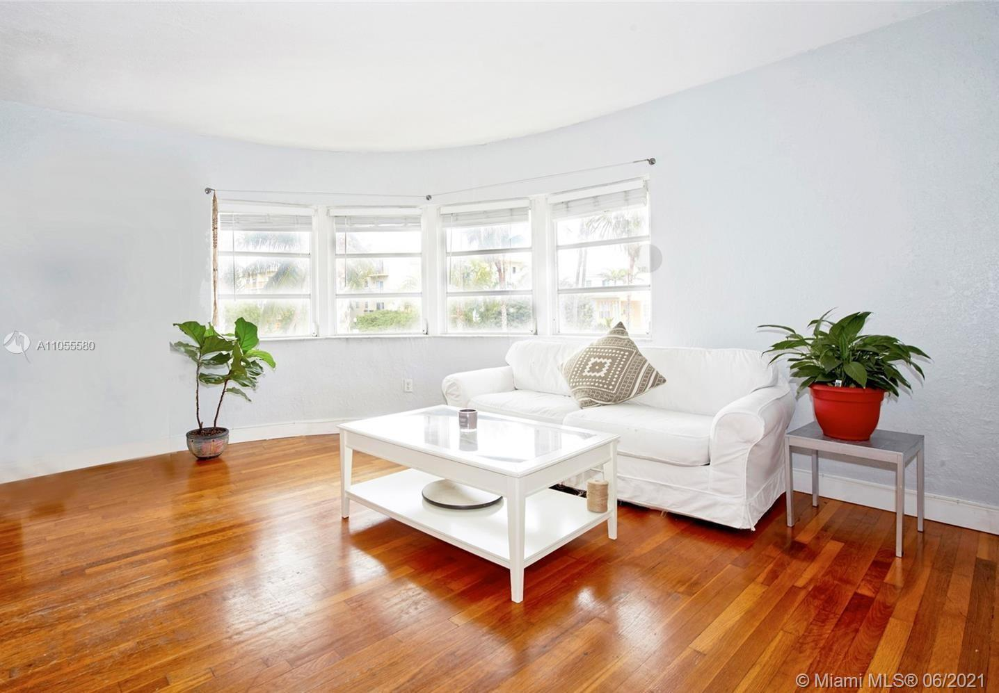 Historic Art Deco well kept building with modern updates. This spacious front corner unit has 2 larg