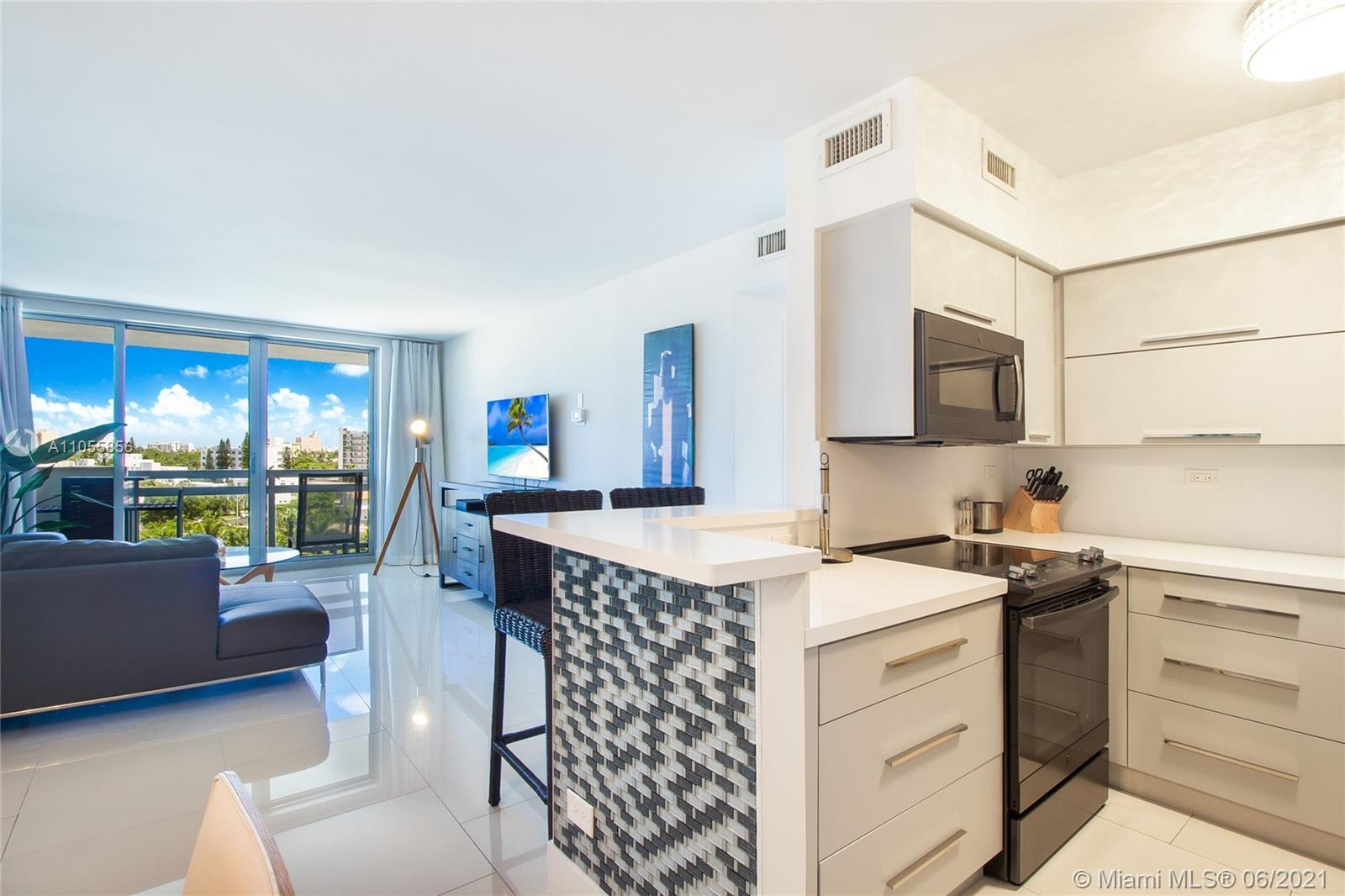 Updated 1 bedroom/1 bathroom in the resort style Flamingo Condo. Unit features impact windows & blac