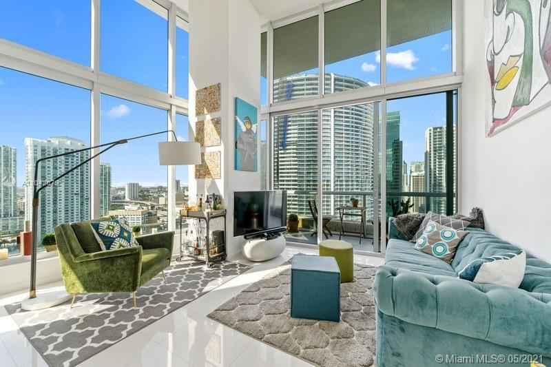 DOUBLE HIGH CEILING UNIT 13' IN LINE 15, 2 BED/2 BATH CORNER UNIT AT 28TH FLOOR IN ICON BRICKELL TOW