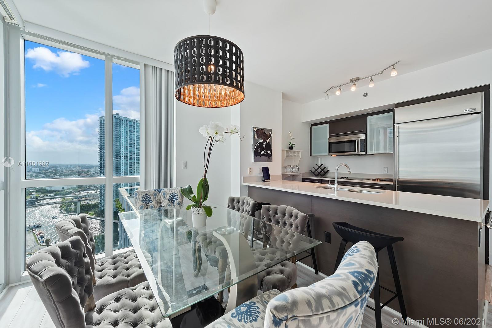 City living at its finest! Step into this beautifully appointed 2 bed 2 bath split floor plan corner