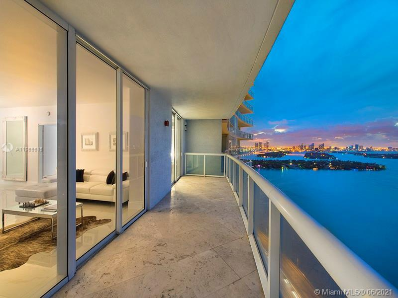 Stunning 2/2 fully furnished and decorated for sale. City view 180 degrees overlooking ocean, bay an