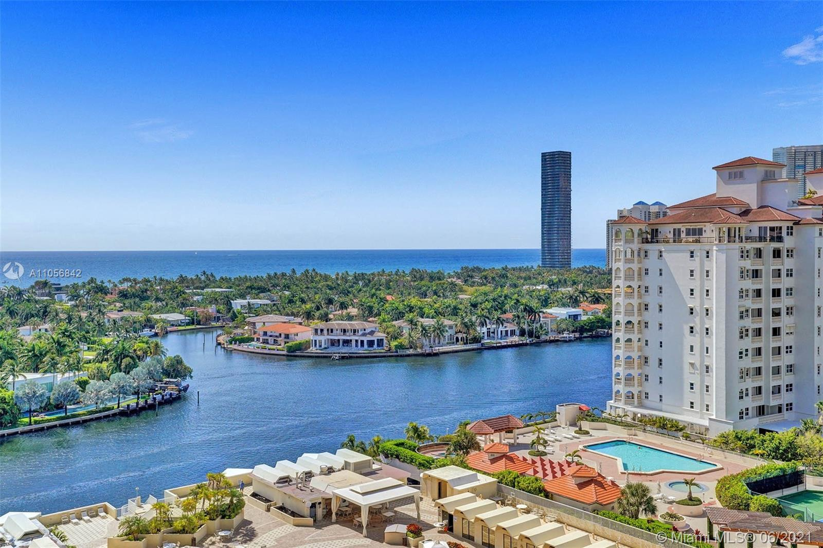 Highly sought, rare 3, 3 1/2 baths one-of-a-kind gem! Amazing views of Ocean + Intracoastal. Impecca