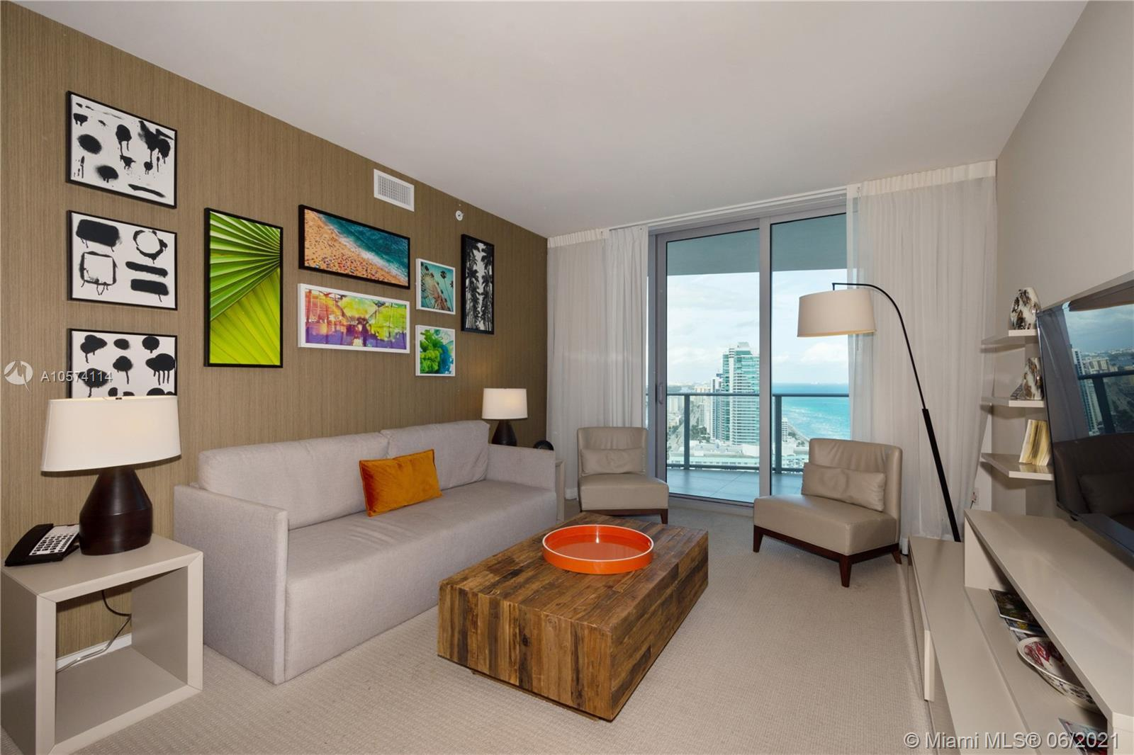 Prestige Hyde Resort and Residences Condo 2/2 in Hollywood Beach. Beautiful views of the ocean, pool