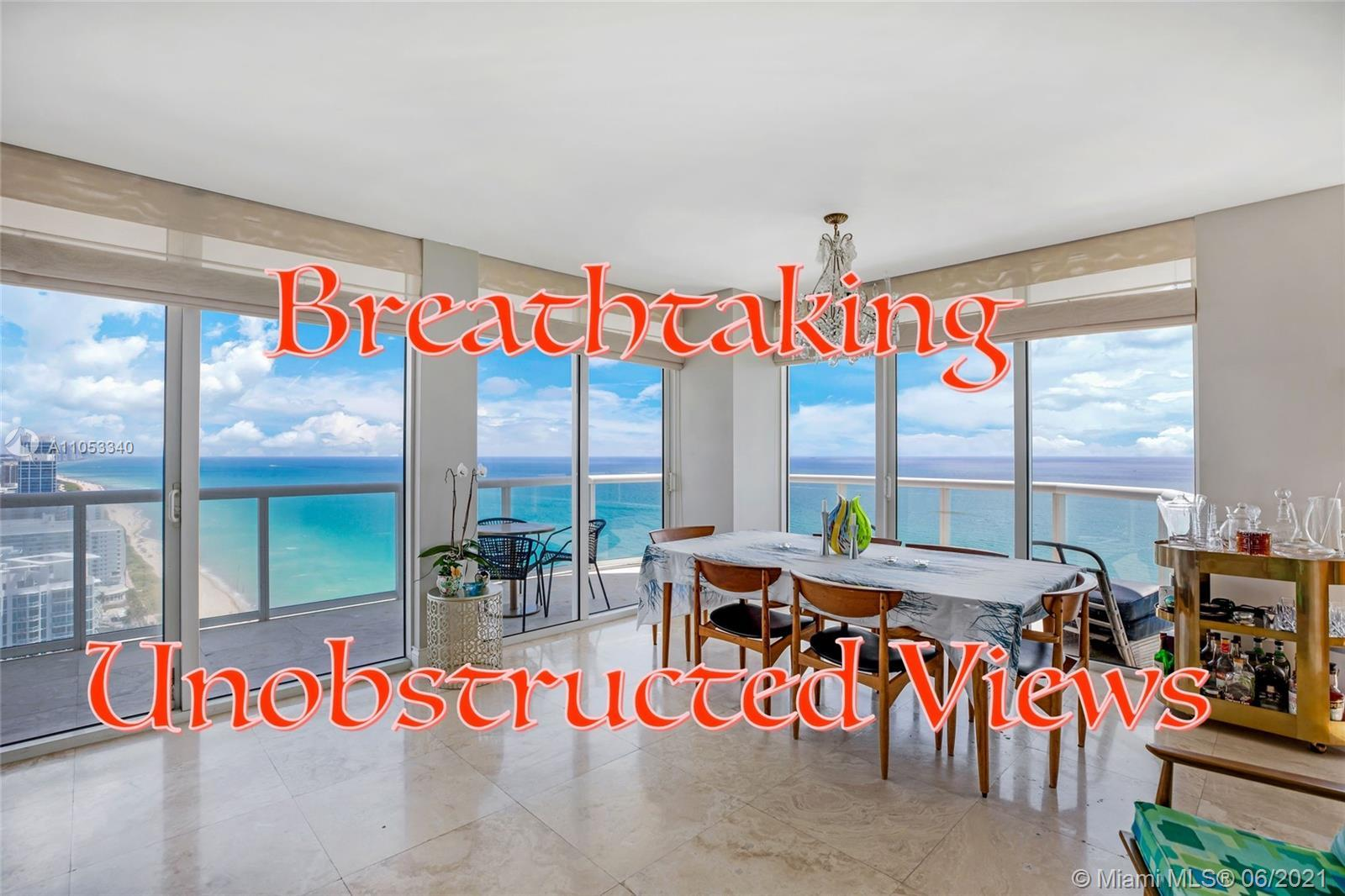 Immaculate three bedrooms with direct views of the Atlantic Ocean. Its expansive balcony further enh