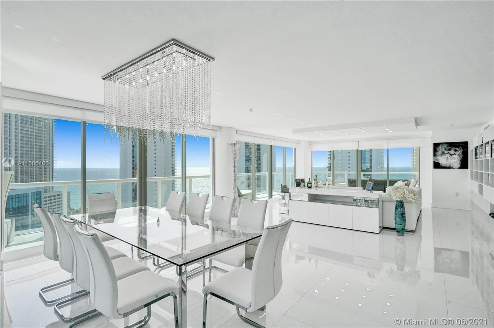 One of a kind, totally remodeled home with luxury finishes, offering breathtaking ocean & skyline vi