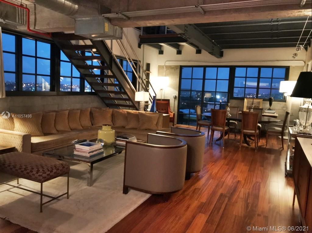 New York Style industrial Loft with 2 interior floors.  #602 is located on the Penthouse level and N