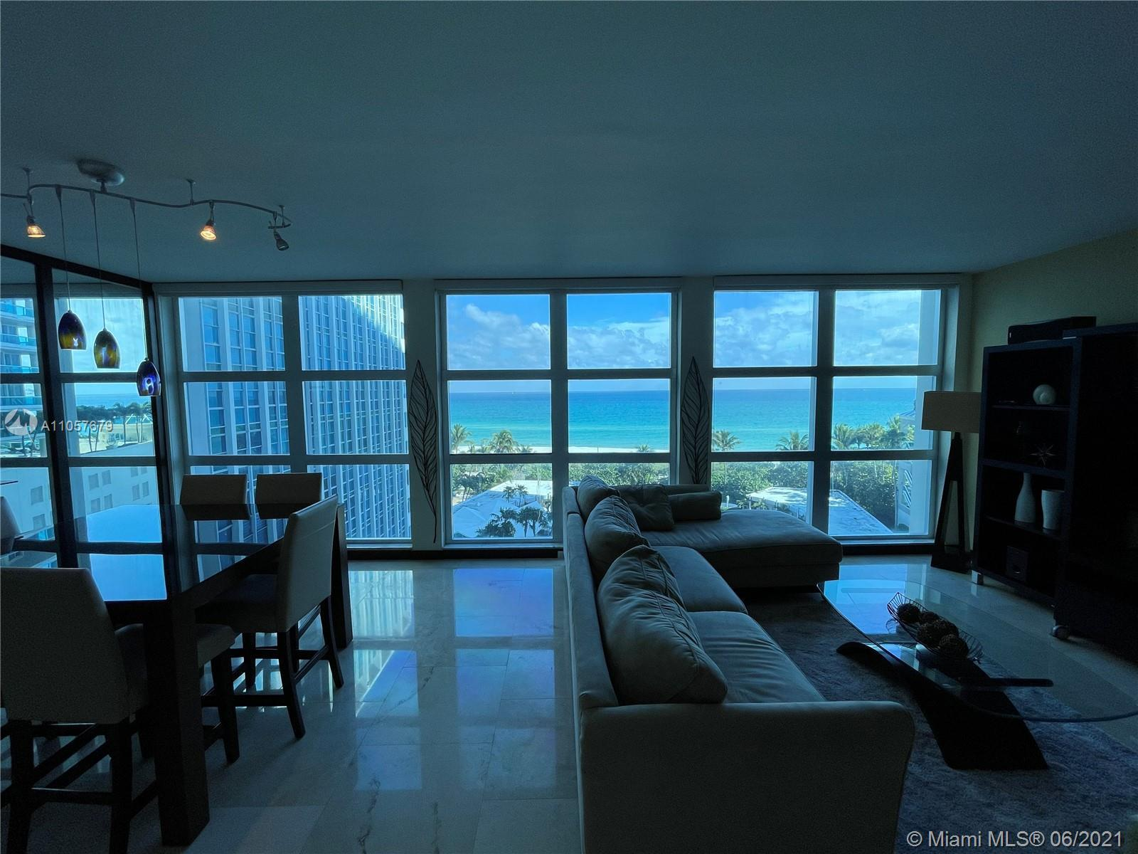 7th floor Corner unit ( 1260 sqft) with full unobstructed ocean views throughout unit  Unit is fully