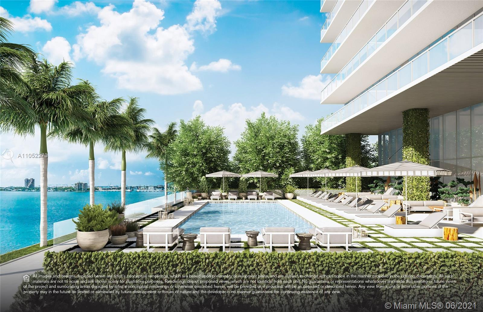 Upper tier residence at Elysee, the first luxury boutique building in Edgewater. Offering 4B/4.5b +D