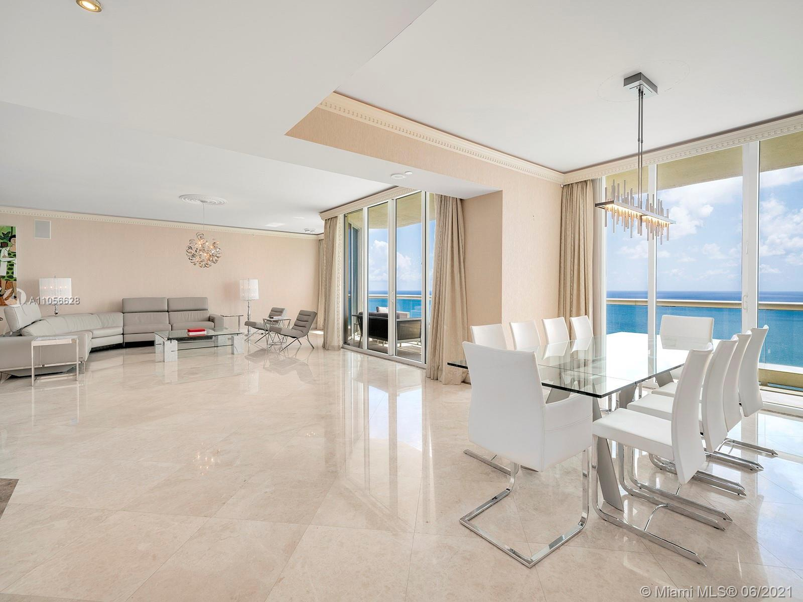 A grand apartment within the Acqualina Resort & Residences, consistently ranked one of the top five